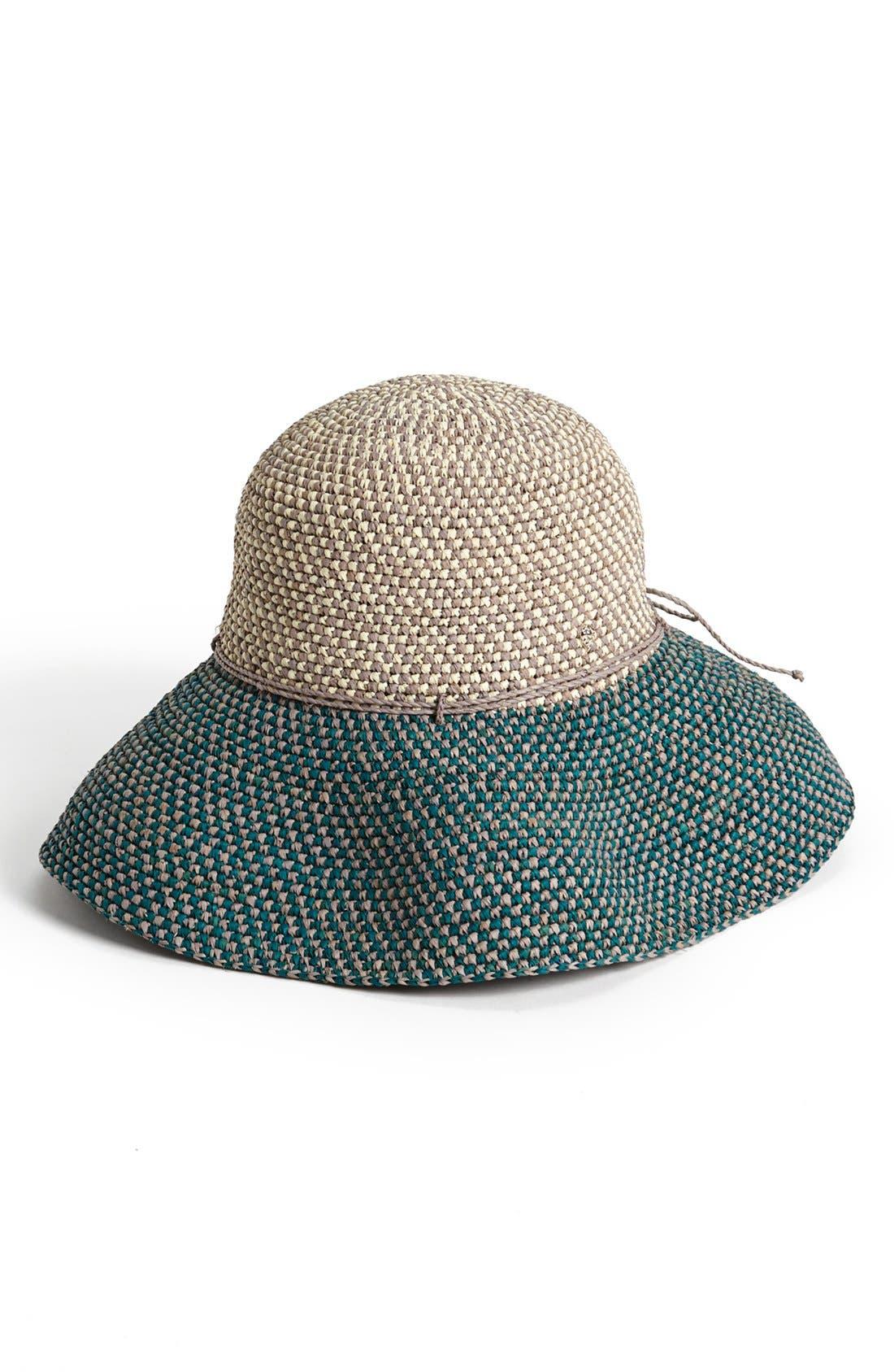 'Provence 12' Packable Raffia Hat,                             Alternate thumbnail 21, color,