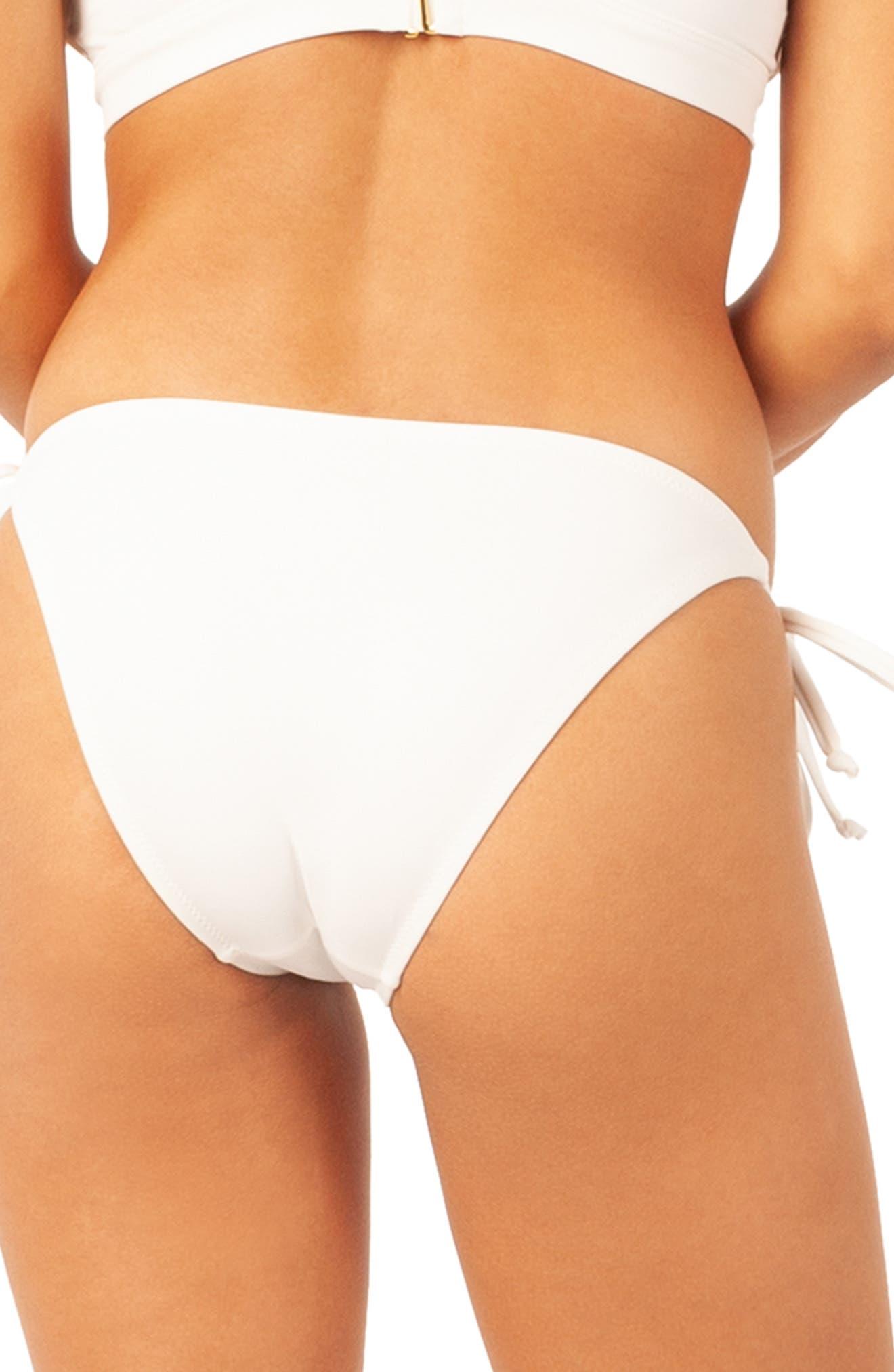 The String Bikini Swim Bottoms,                             Alternate thumbnail 2, color,                             LIVELY WHITE