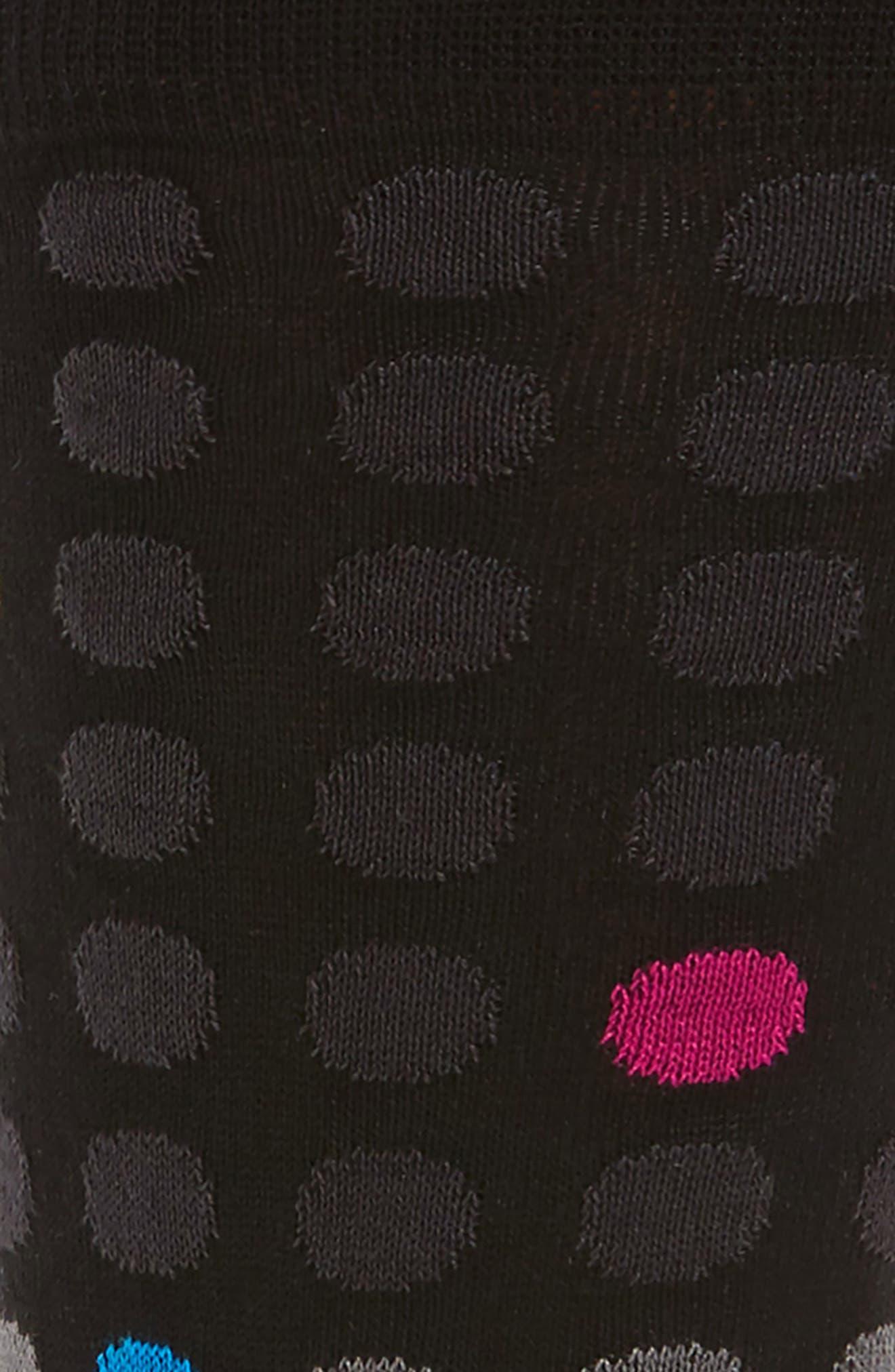 Polka Dot Crew Socks,                             Alternate thumbnail 2, color,                             001