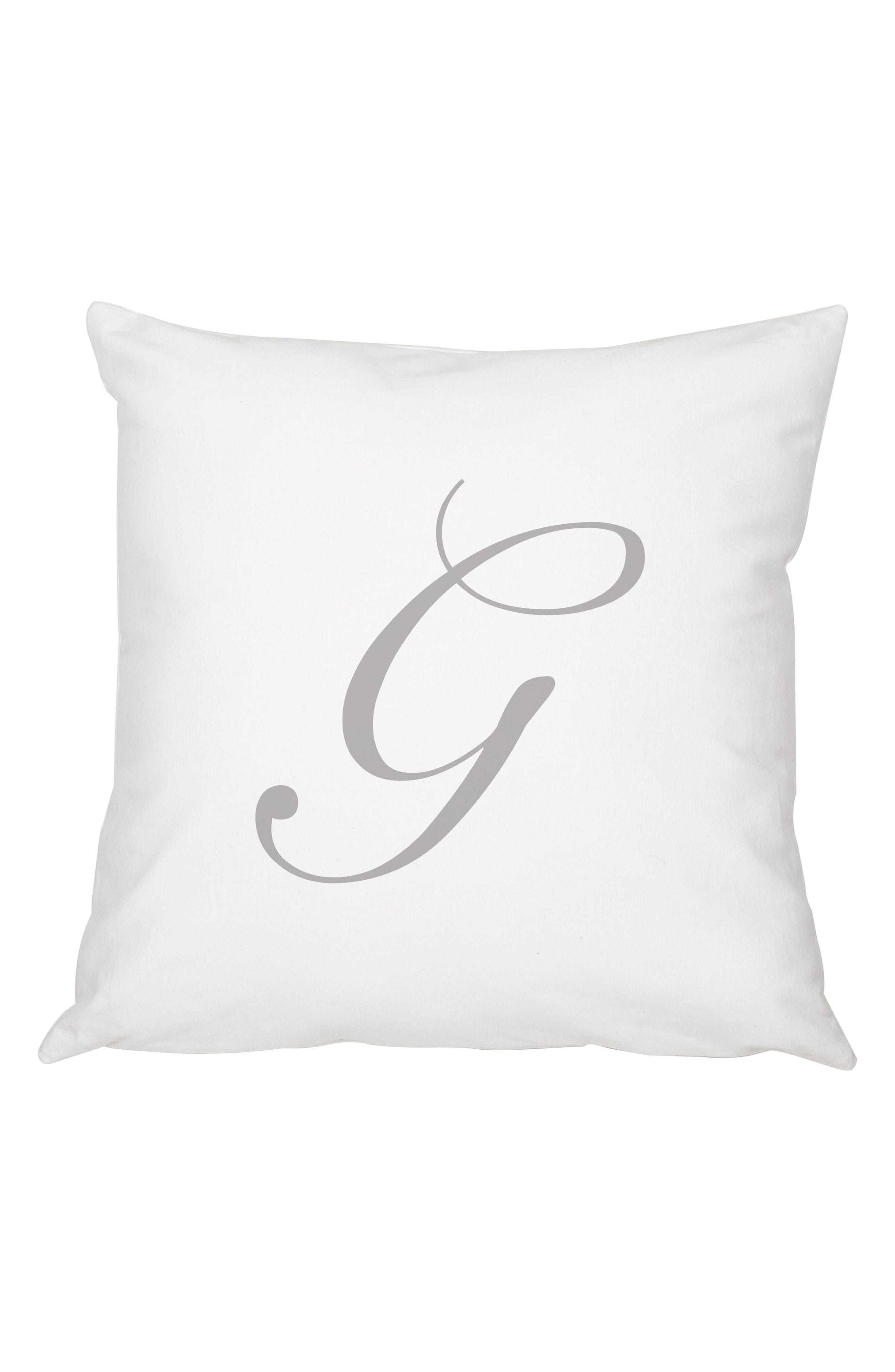 Script Monogram Accent Pillow,                             Main thumbnail 7, color,