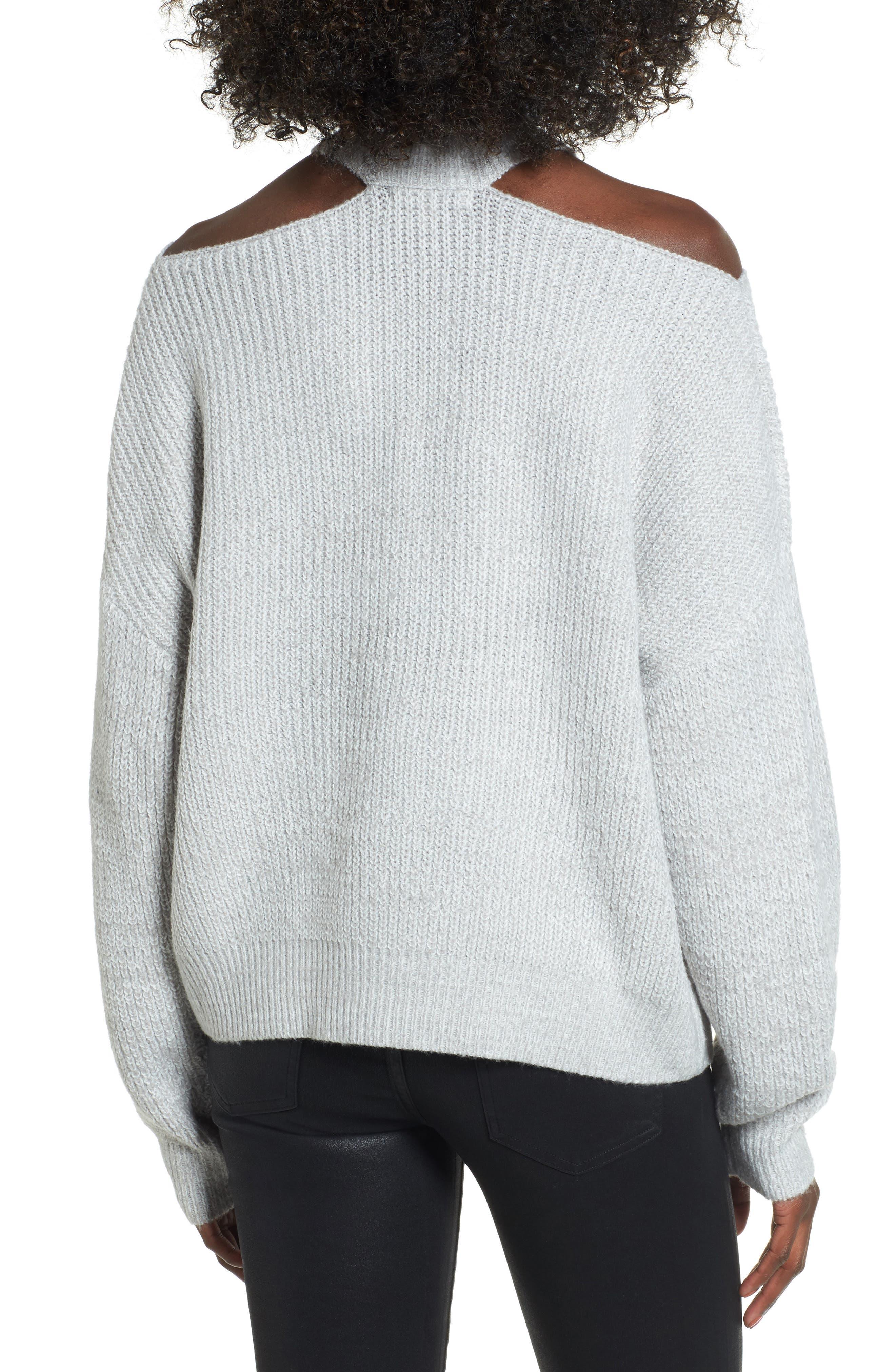 Cutout Turtleneck Sweater,                             Alternate thumbnail 4, color,