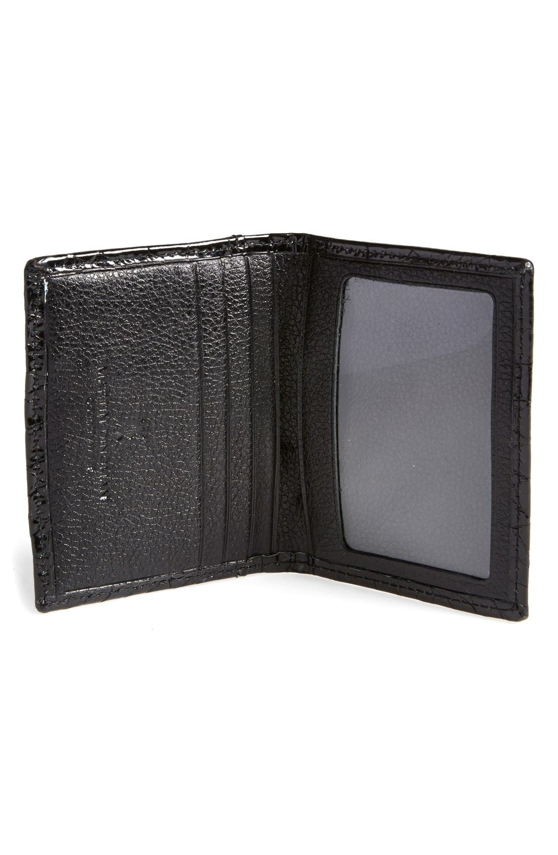 'Joseph' Genuine American Alligator Leather ID Wallet,                             Alternate thumbnail 2, color,                             001