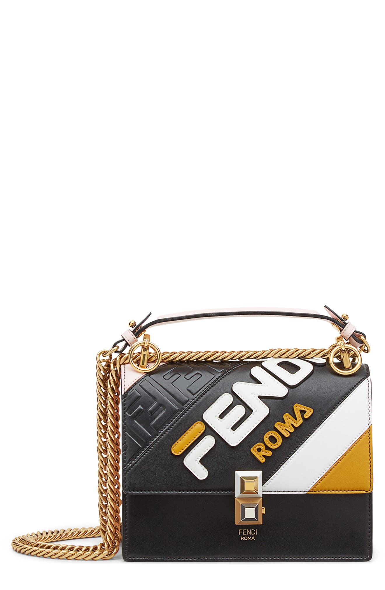 x FILA Small Kan I Mania Logo Shoulder Bag,                         Main,                         color, NERO/ CONFETTO MULTI