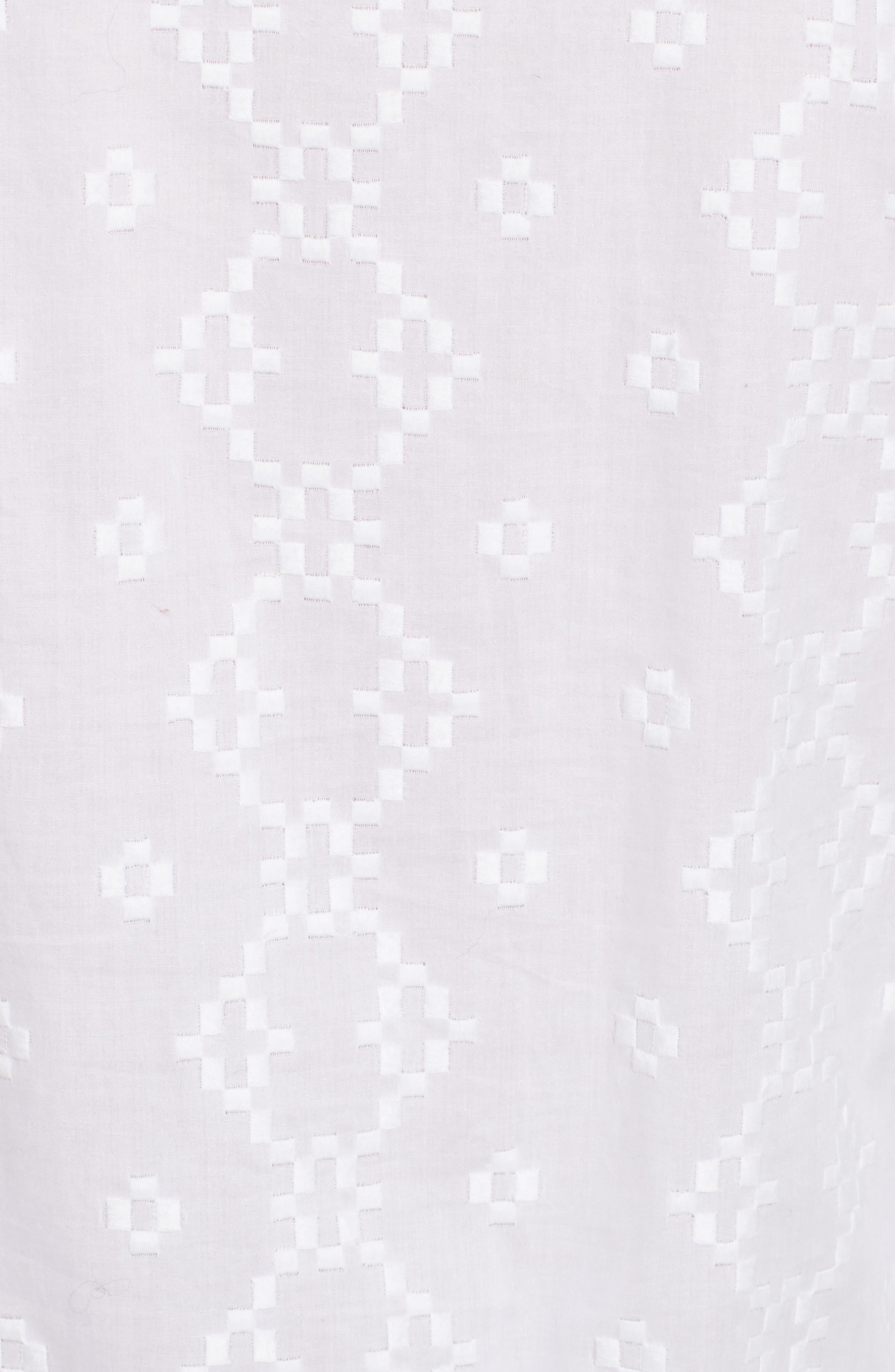 Cotton Eyelet Dress,                             Alternate thumbnail 5, color,                             101