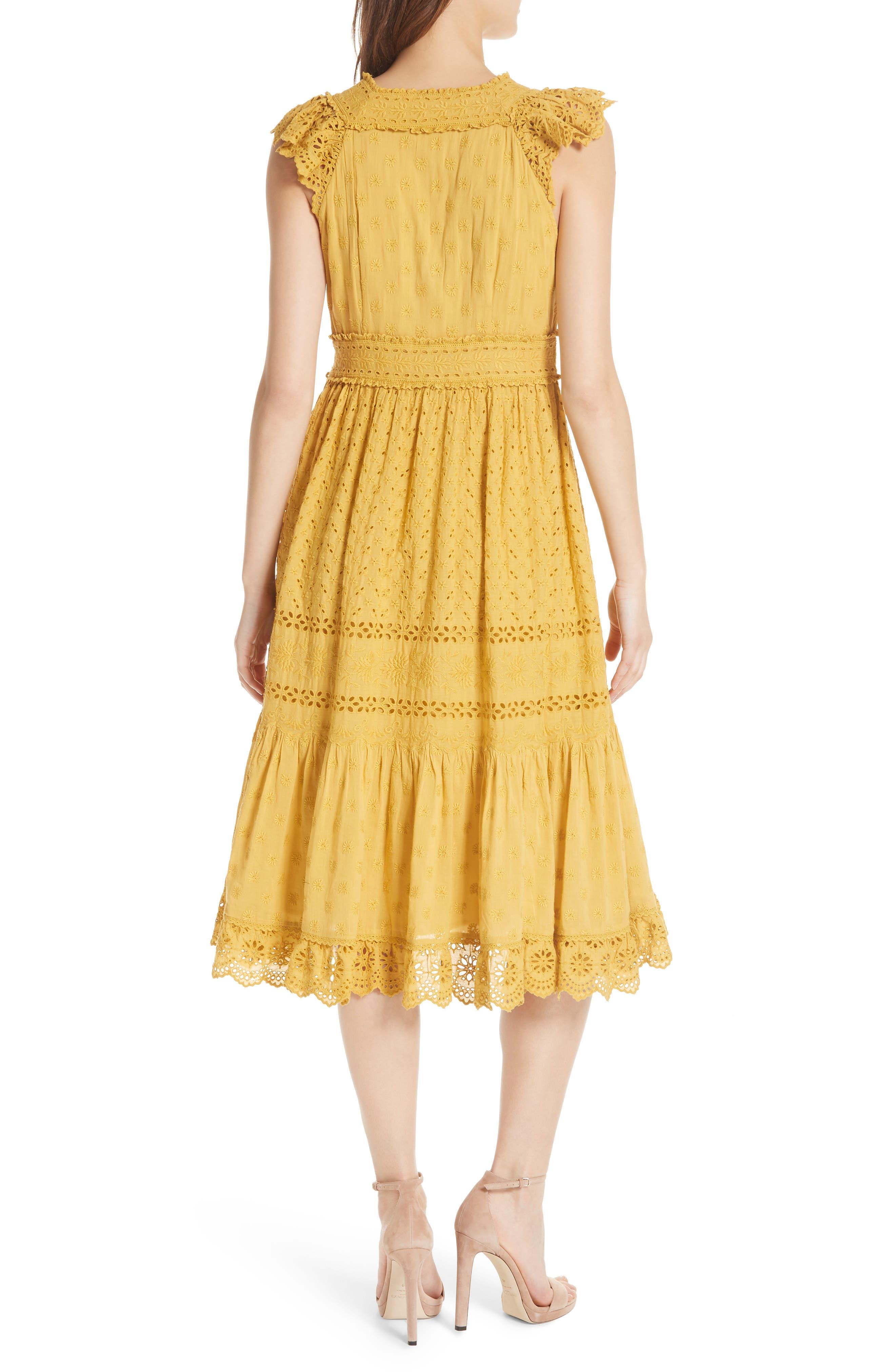 Marjorie Eyelet Dress,                             Alternate thumbnail 2, color,                             700
