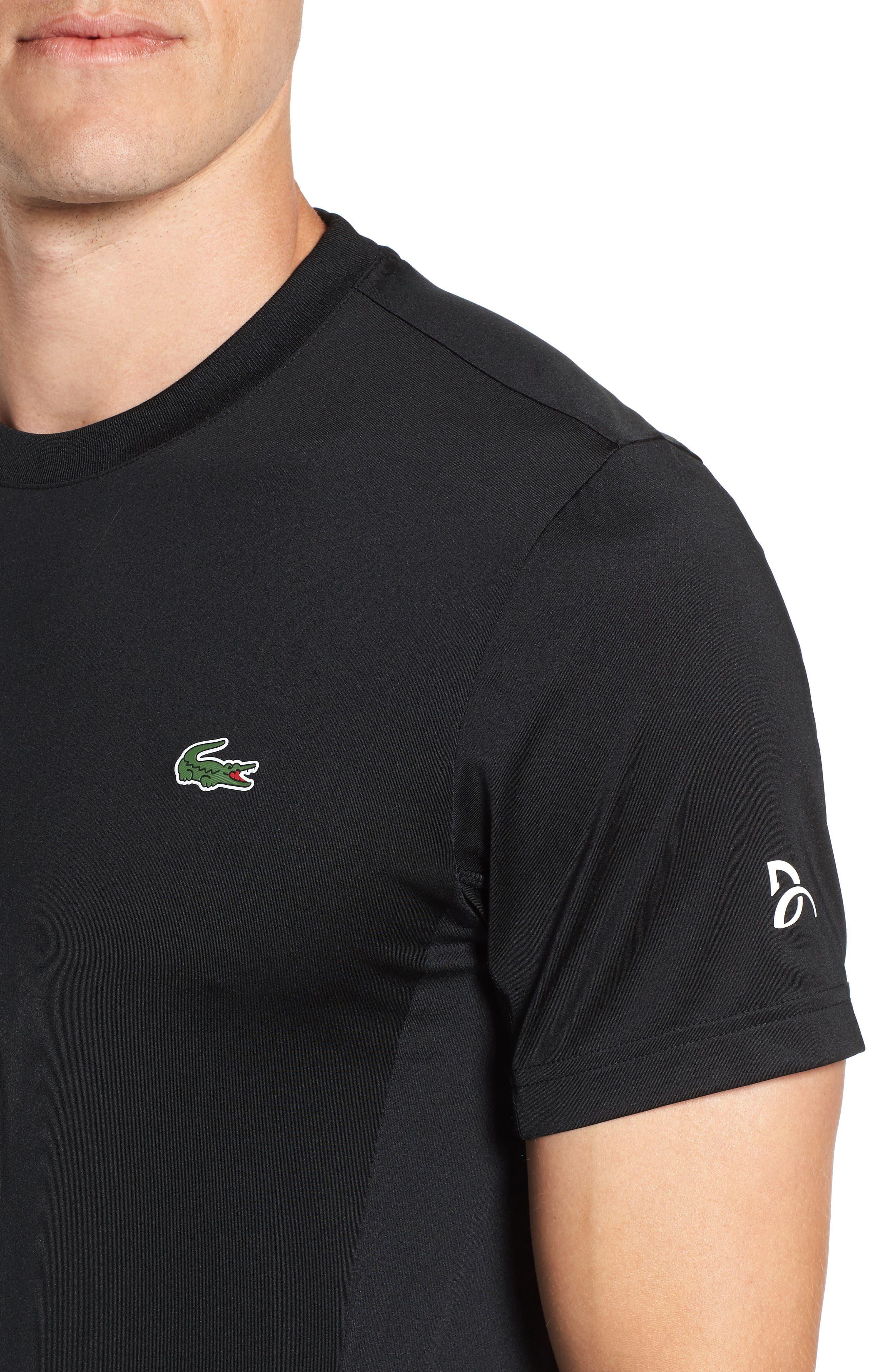 Regular Fit Novak Performance T-Shirt,                             Alternate thumbnail 4, color,                             BLACK/ WHITE