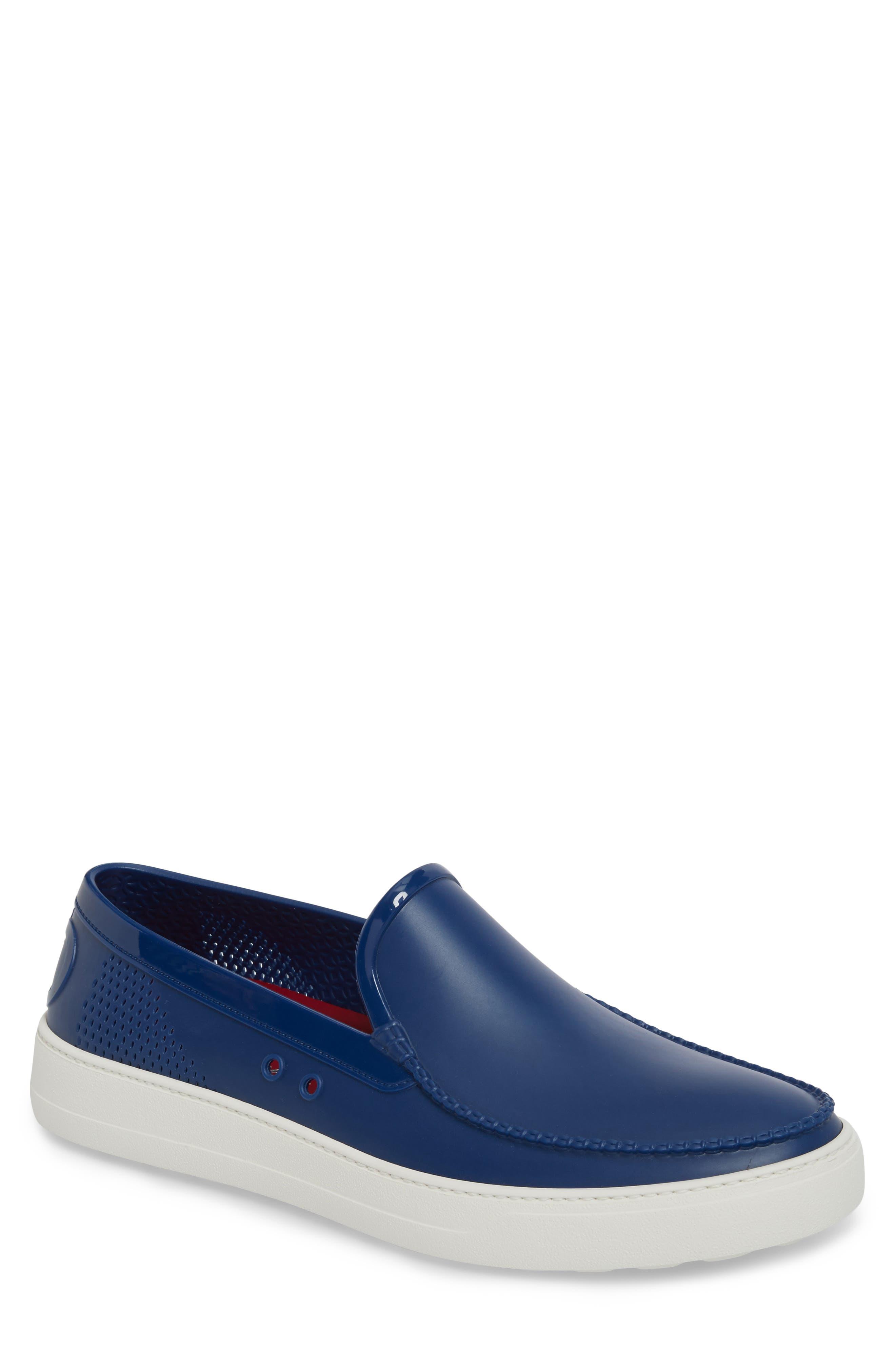 Fury Slip-On Sneaker,                             Main thumbnail 1, color,                             JET BLUE LEATHER