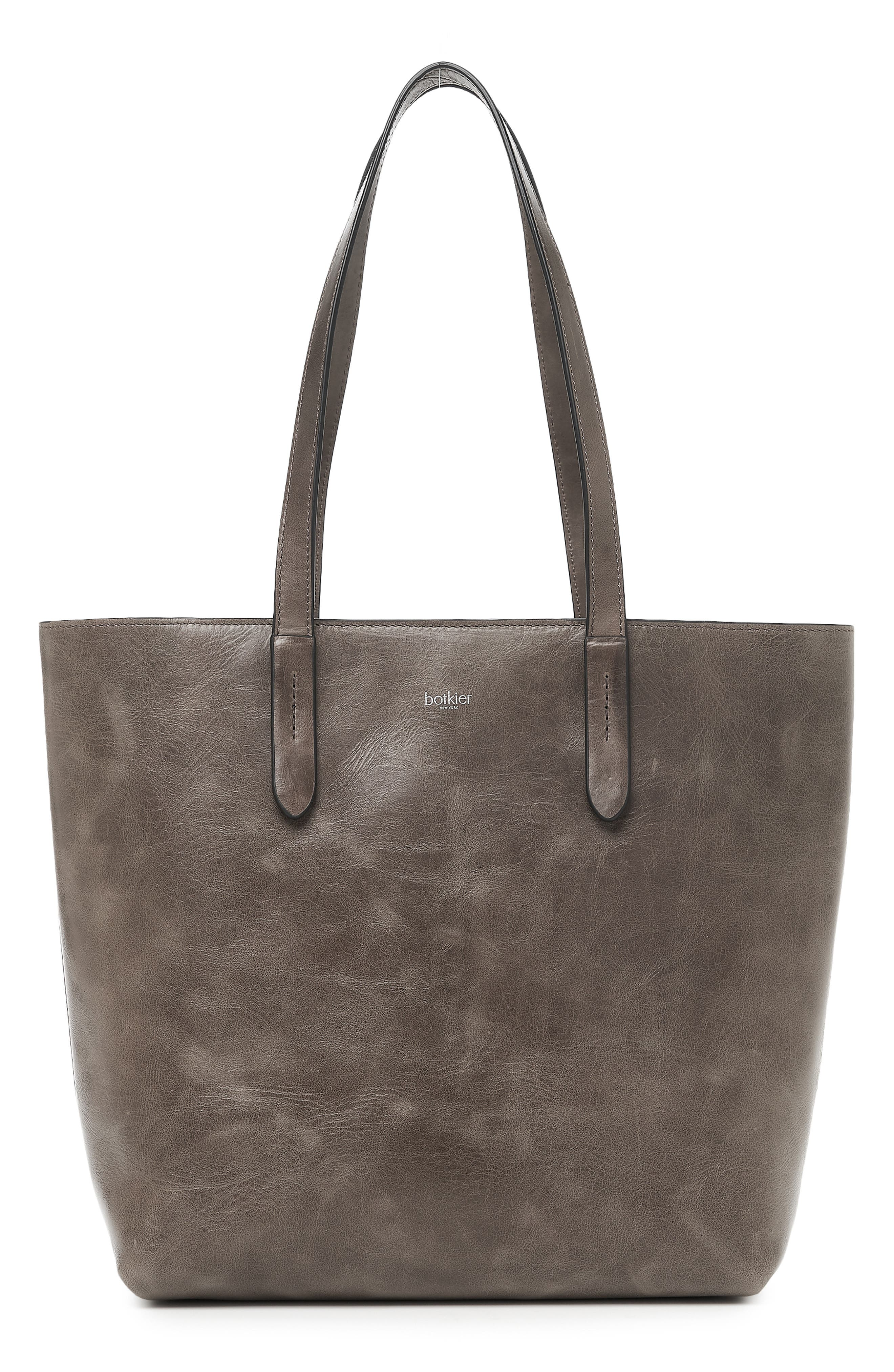 Highline Leather Tote,                         Main,                         color, WINTER GREY