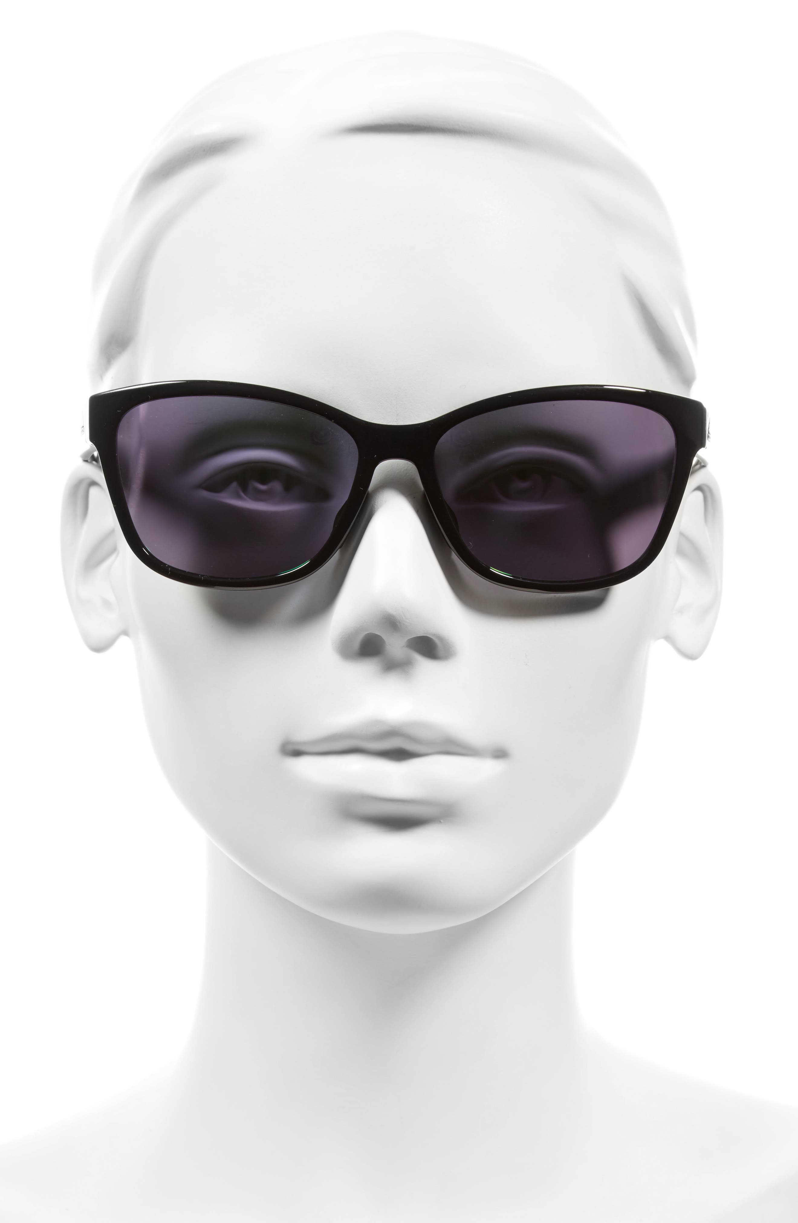 Excalate 58mm Mirrored Sunglasses,                             Alternate thumbnail 2, color,                             SHINY BLACK/ GREEN MIRROR