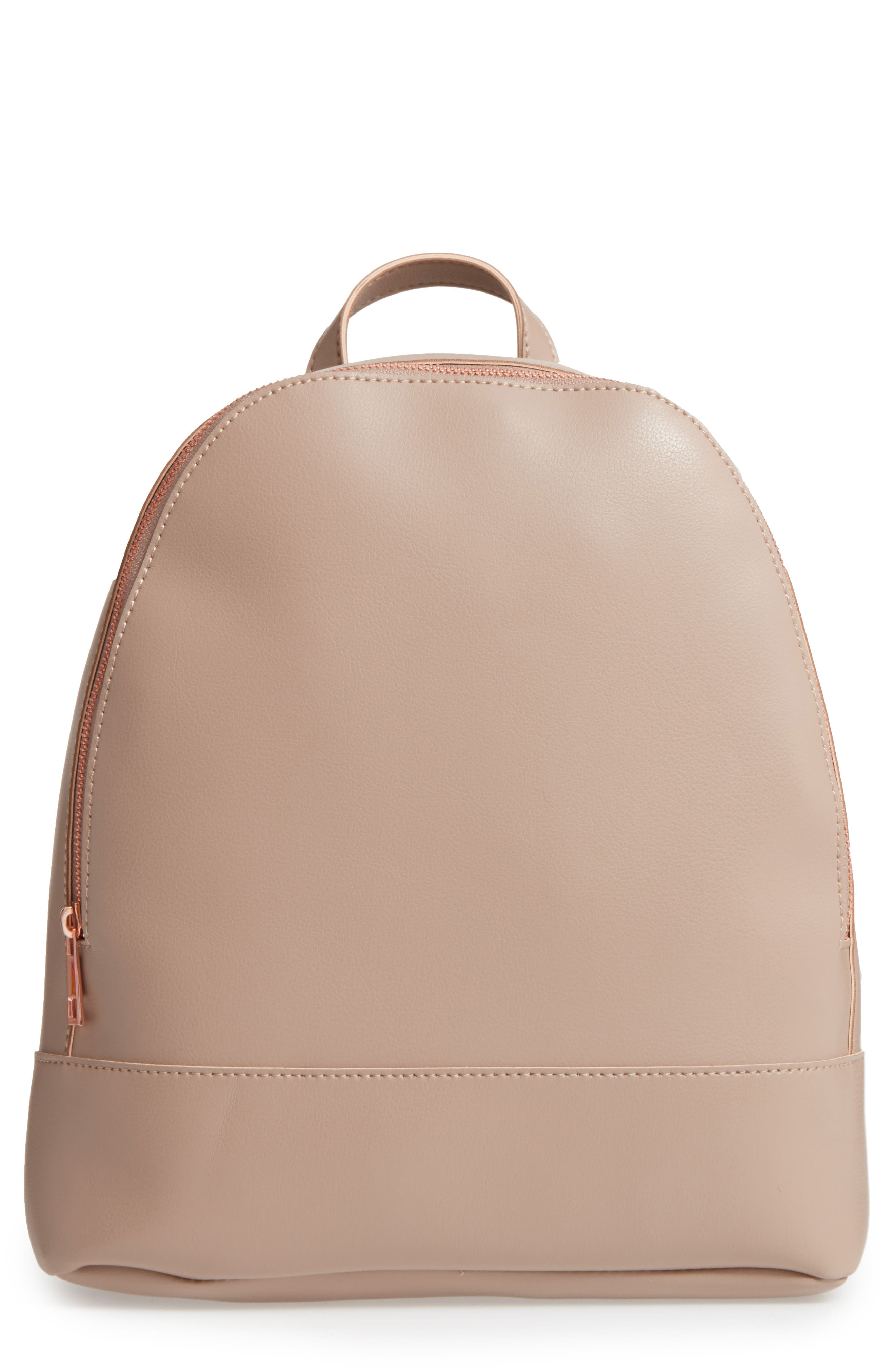 Chester Faux Leather Backpack,                             Main thumbnail 2, color,