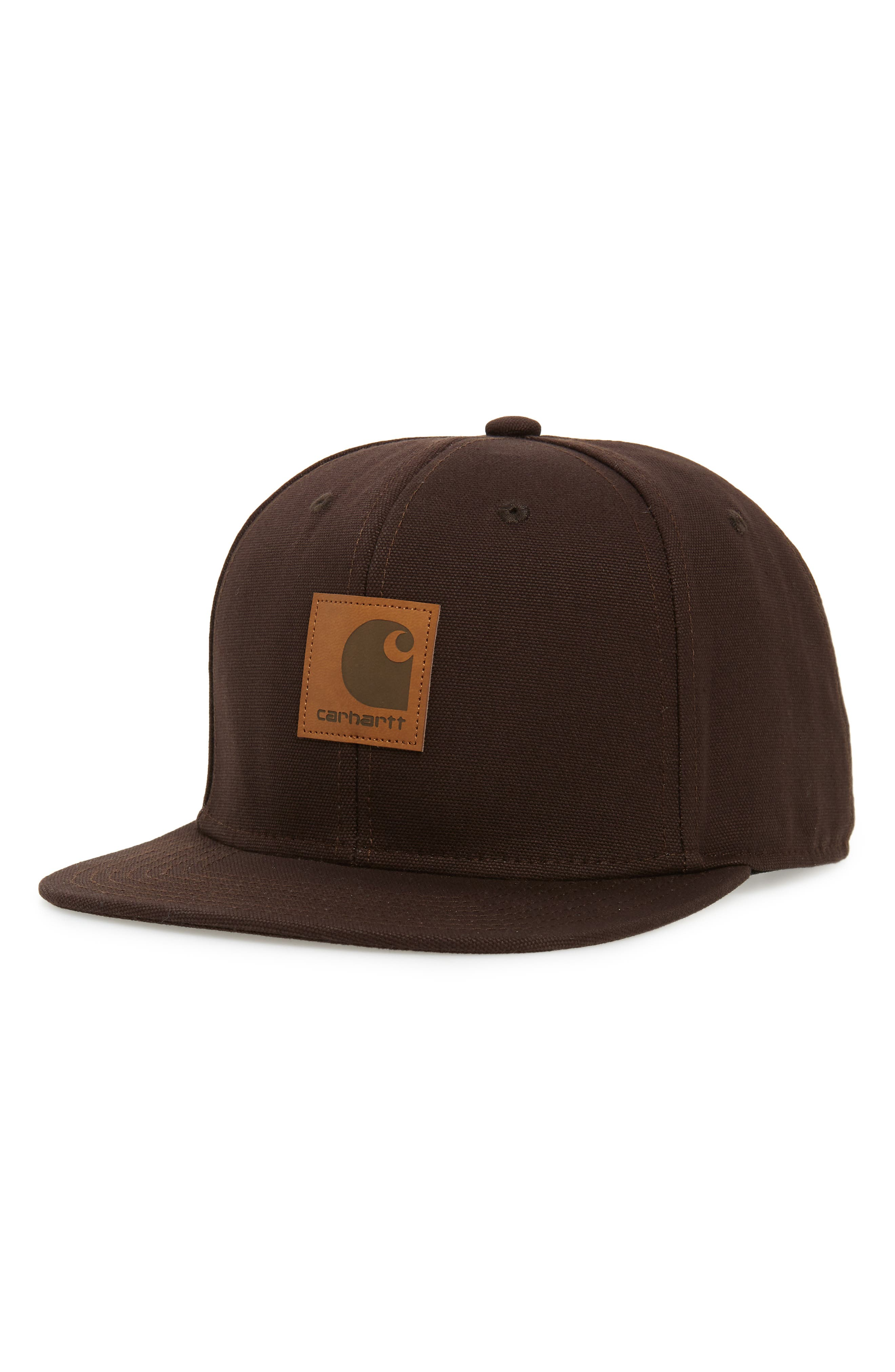 men's carhartt work in progress canvas logo ball cap - brown