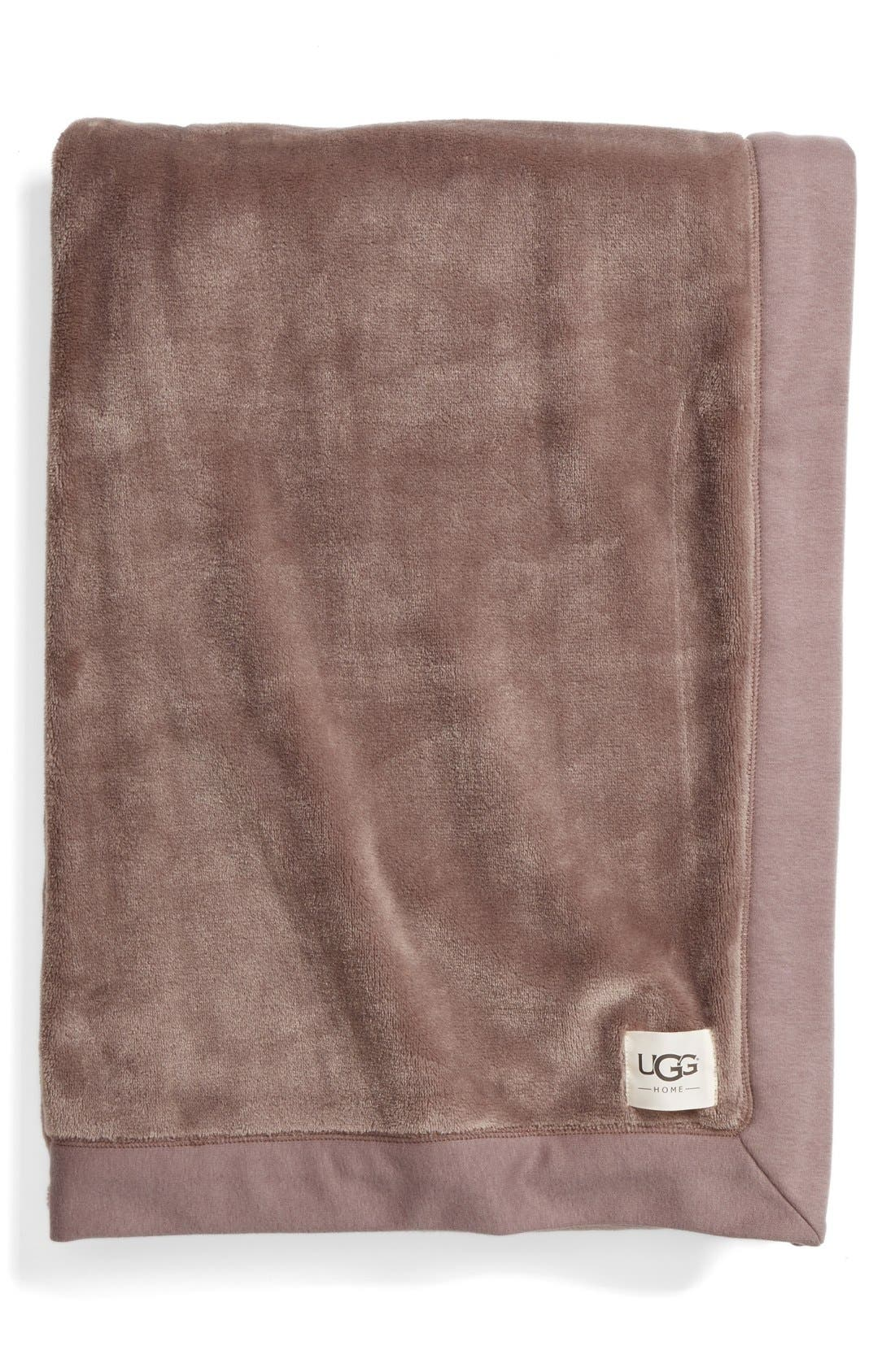 Duffield Throw,                             Main thumbnail 1, color,                             SEAL HEATHER GREY