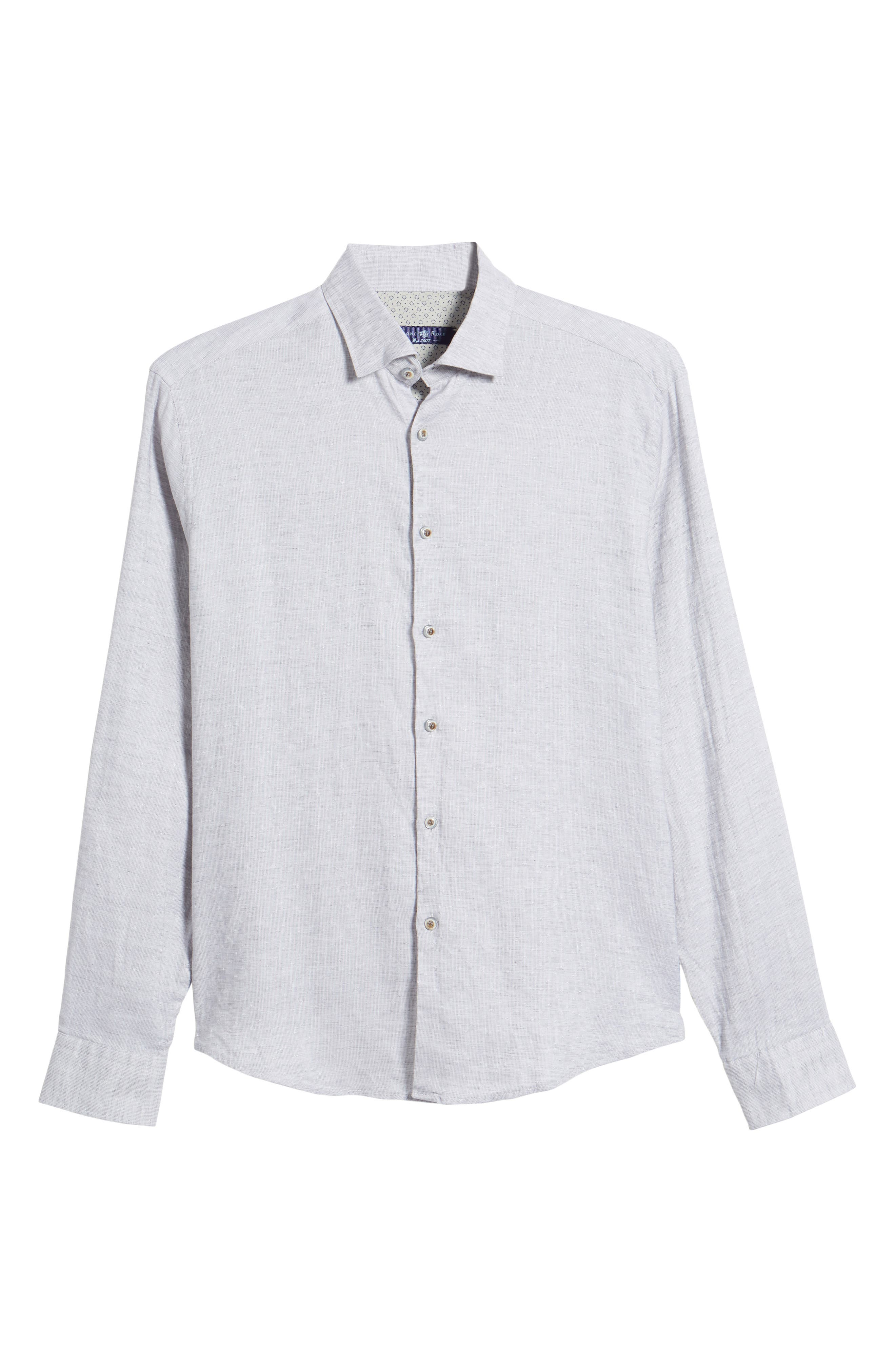 Linen Blend Sport Shirt,                             Alternate thumbnail 16, color,