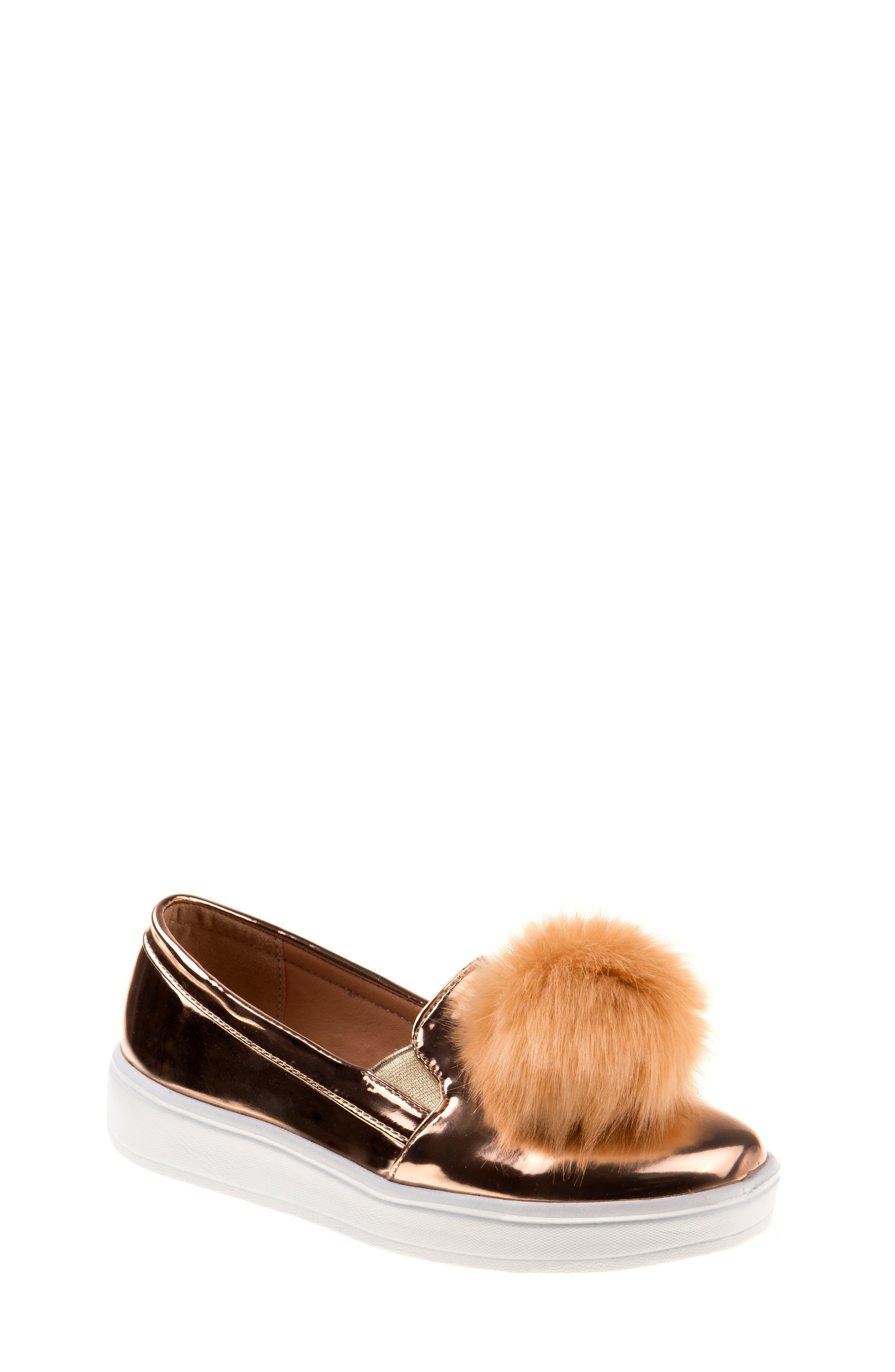 KENSIE GIRL,                             Pom Metallic Sneaker,                             Main thumbnail 1, color,                             710