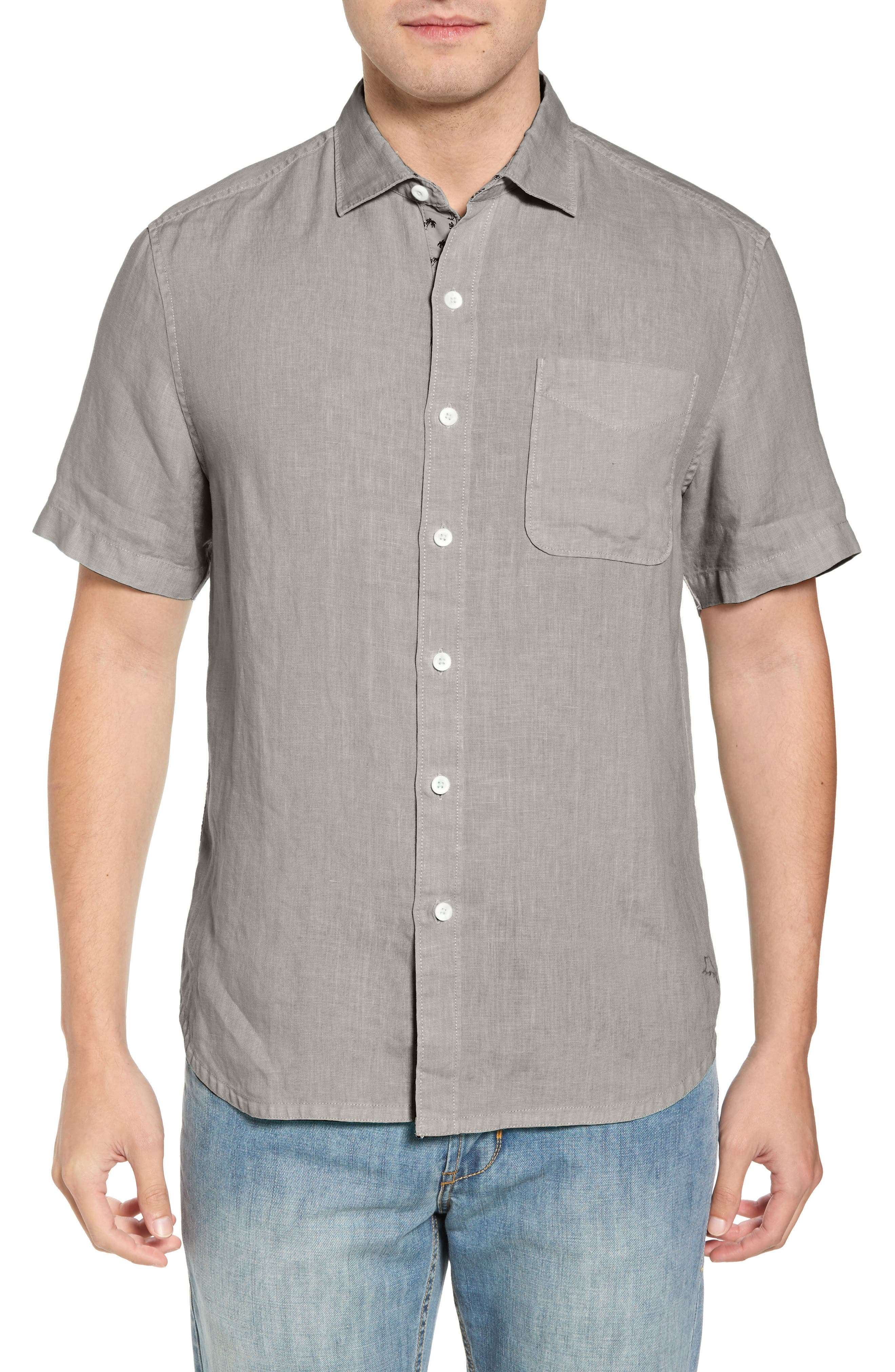 Seaspray Breezer Regular Fit Linen Sport Shirt,                         Main,                         color,