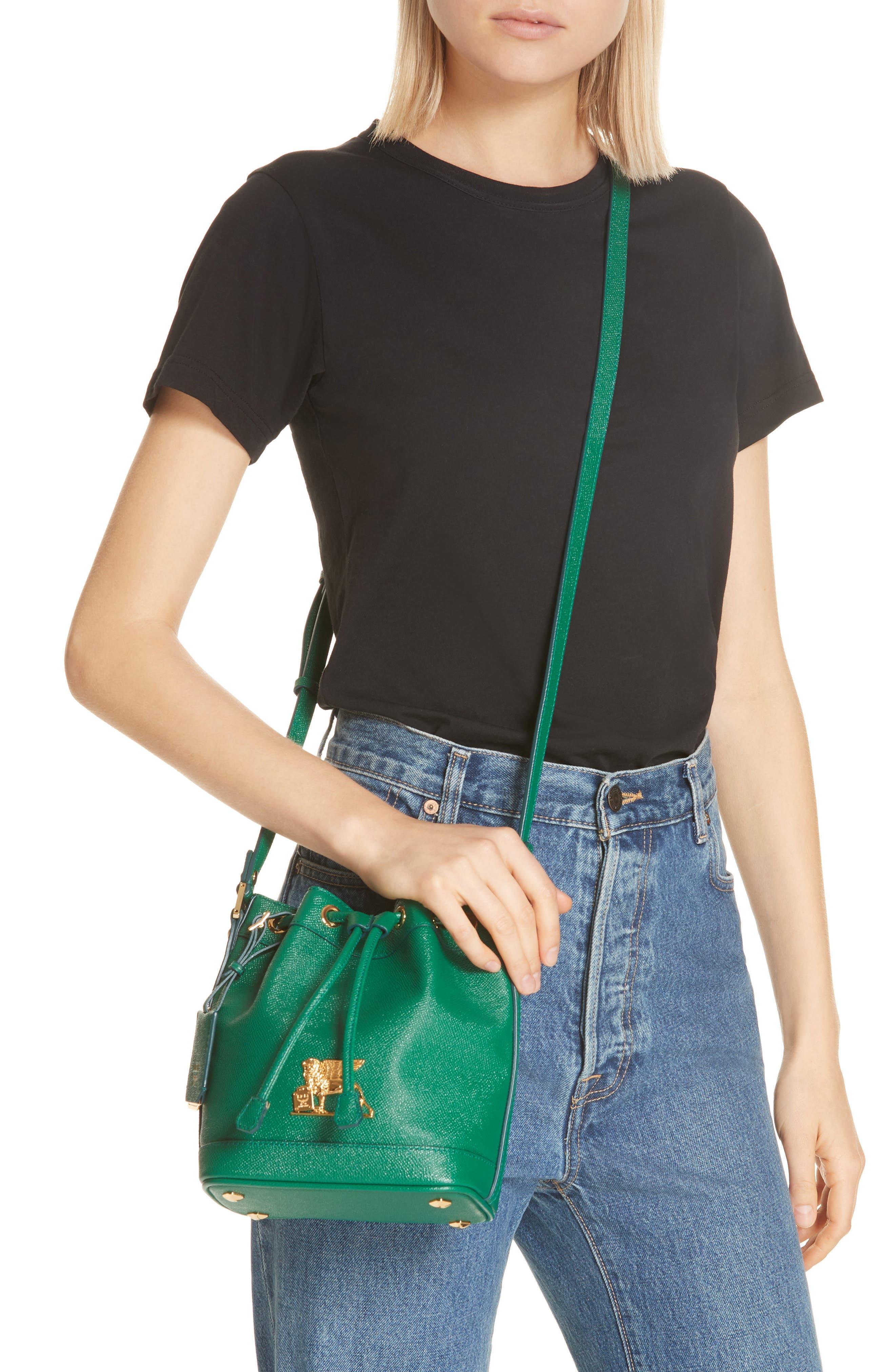 Mini RGB Drawstring Crossbody Bag,                             Alternate thumbnail 2, color,                             GREEN