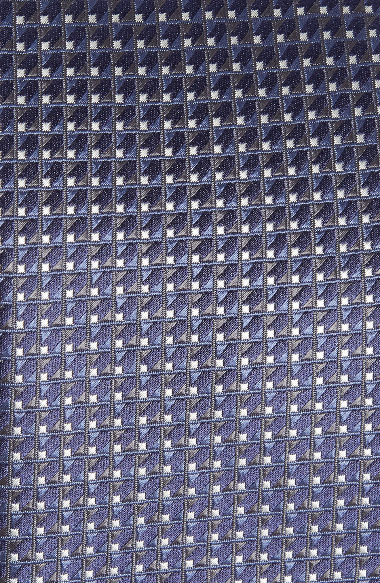 Neat Geometric Silk Tie,                             Alternate thumbnail 2, color,                             INK BLUE