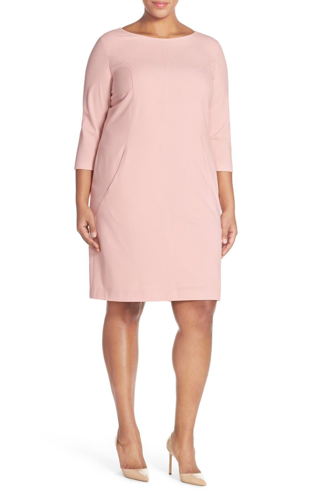 by Arthur S. Levine Seamed A-Line Dress,                             Alternate thumbnail 40, color,