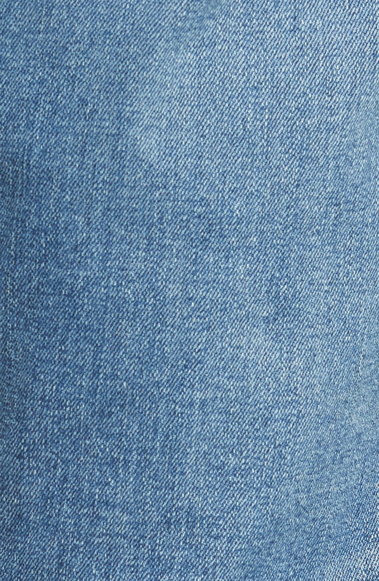 484 Slim Fit Distressed Stretch Jeans,                             Alternate thumbnail 5, color,                             STOCKTON WASH