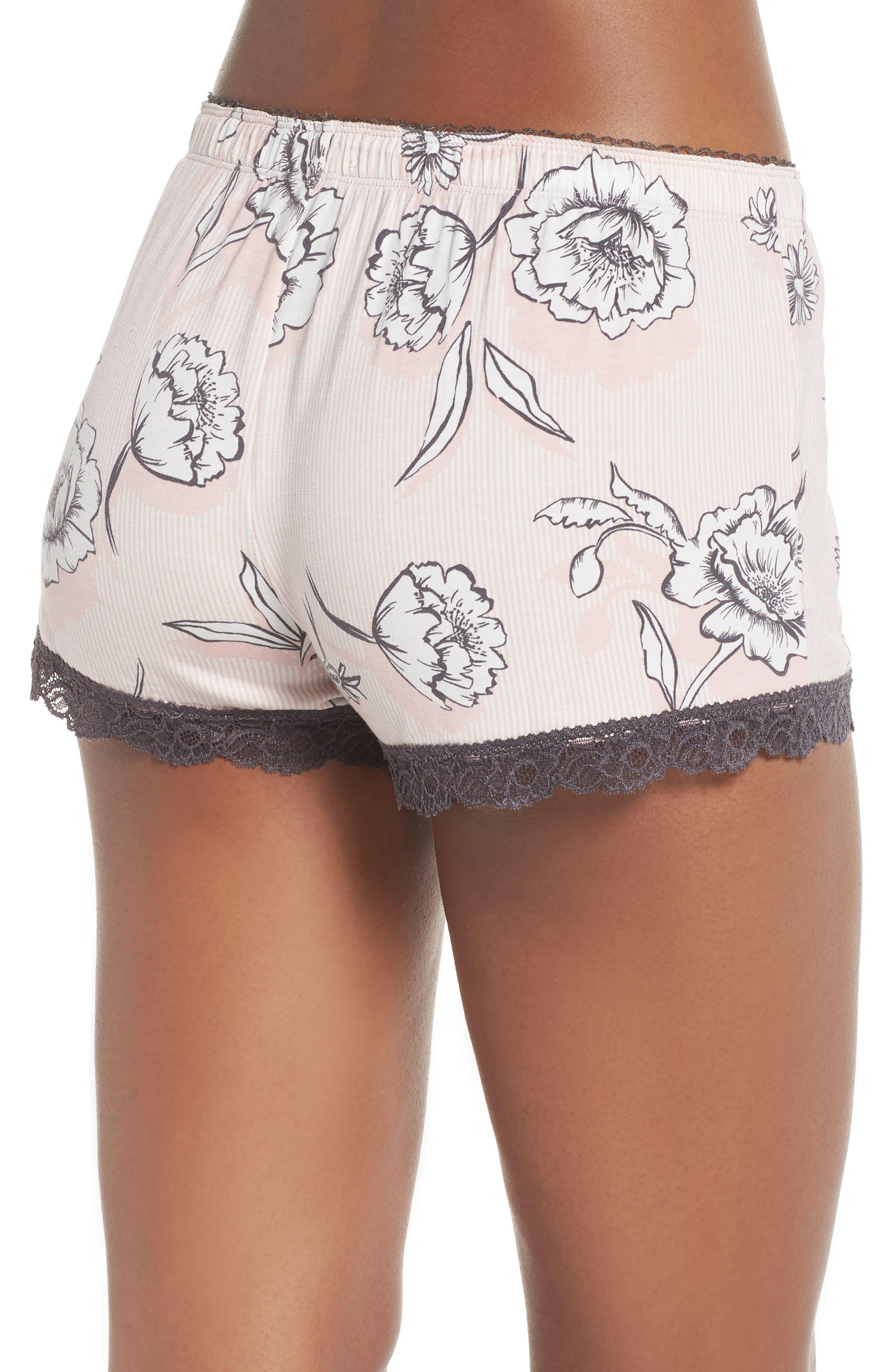 Shadow Floral Shorts,                             Alternate thumbnail 2, color,                             BLUSH