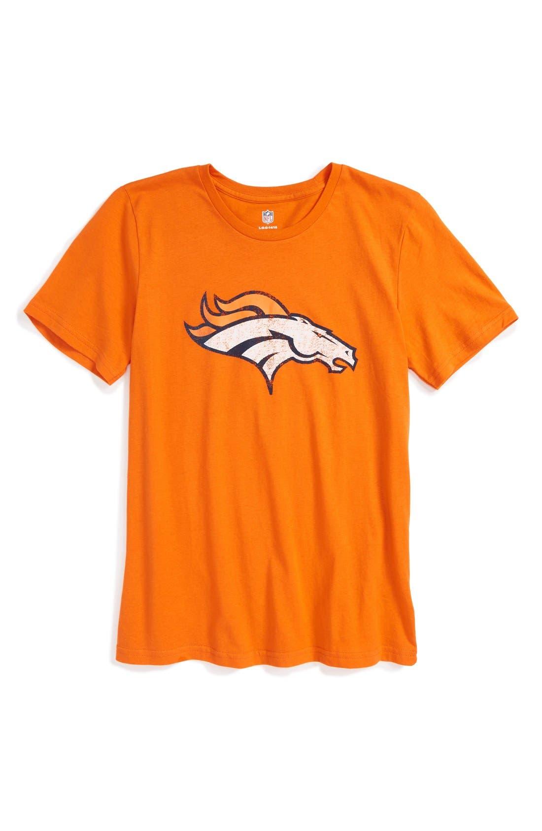 'NFL - Denver Broncos' Distressed Logo Graphic T-Shirt,                         Main,                         color, 800