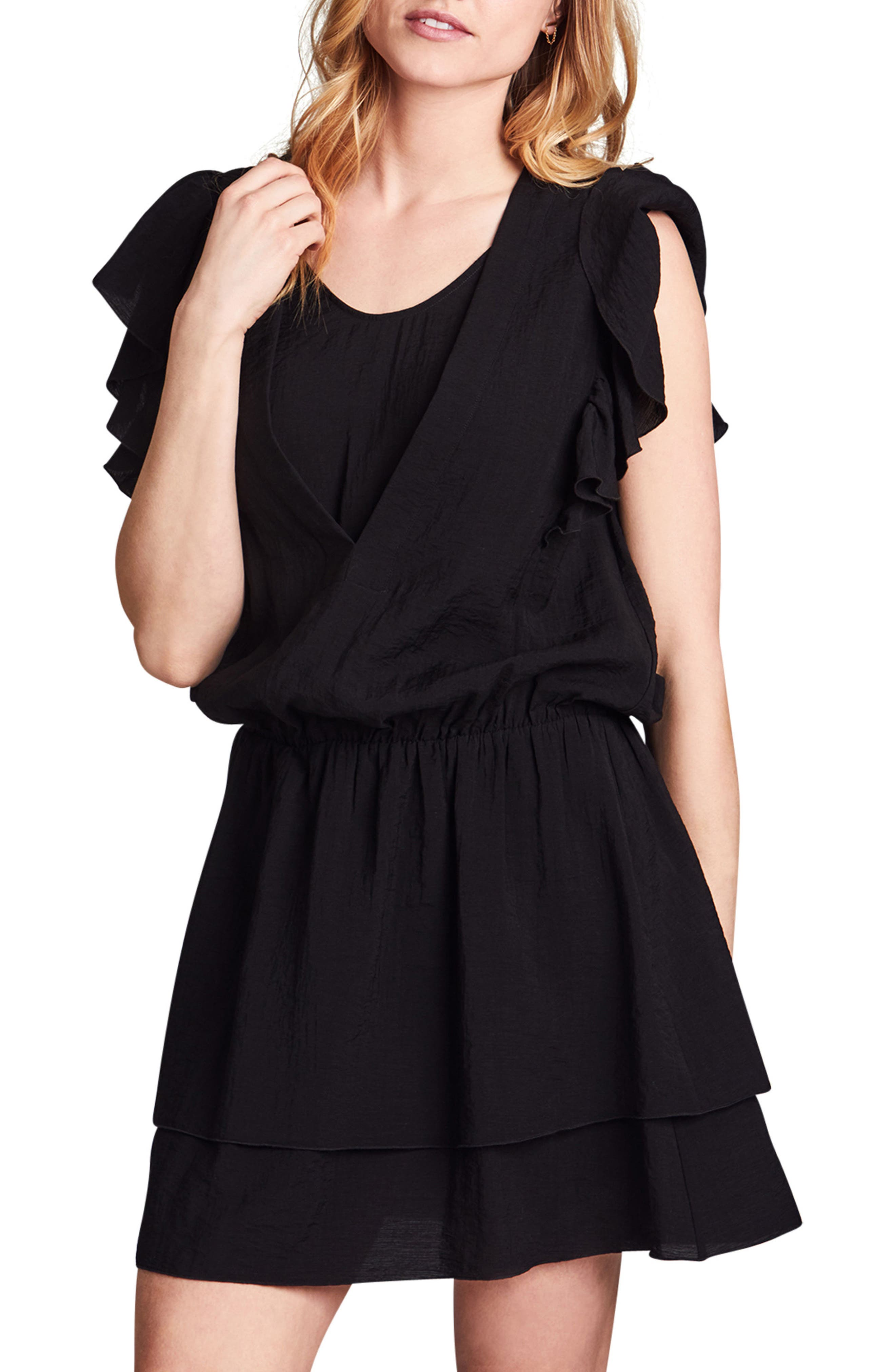Naomi Nursing Dress,                             Main thumbnail 1, color,                             BLACK