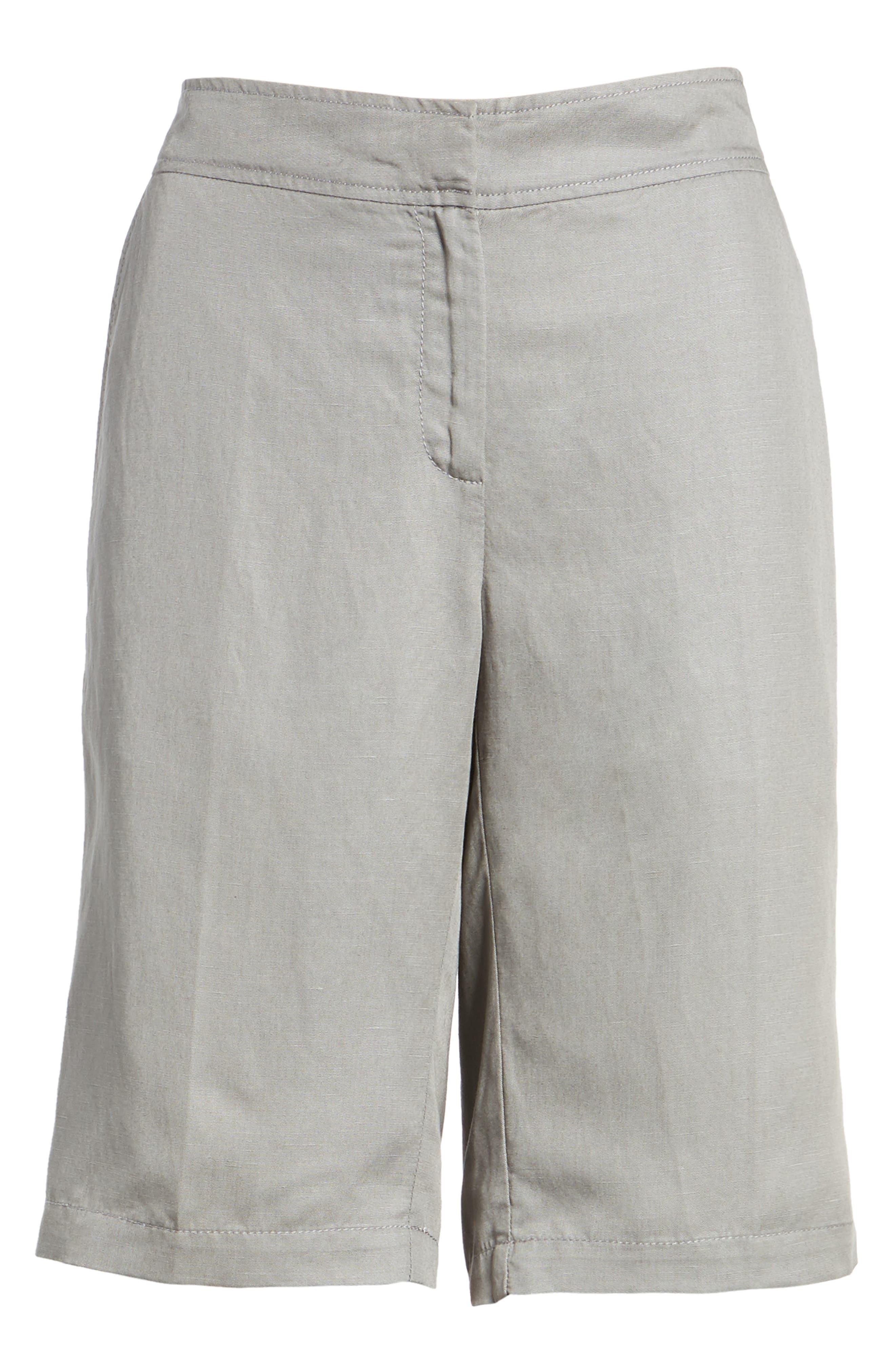 Tencel<sup>®</sup> Lyocell & Linen Walking Shorts,                             Alternate thumbnail 17, color,