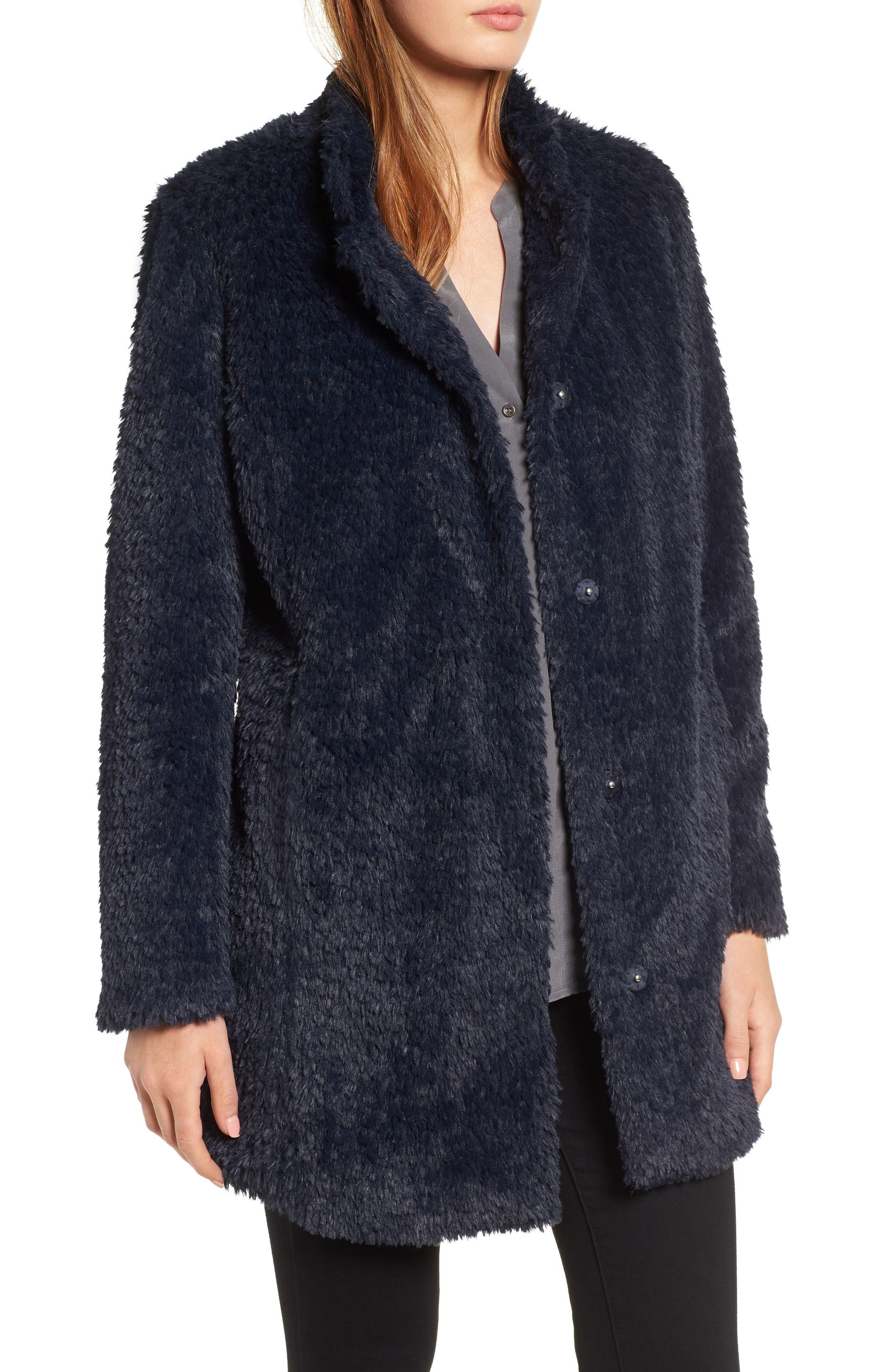 Faux Fur Jacket,                             Main thumbnail 3, color,