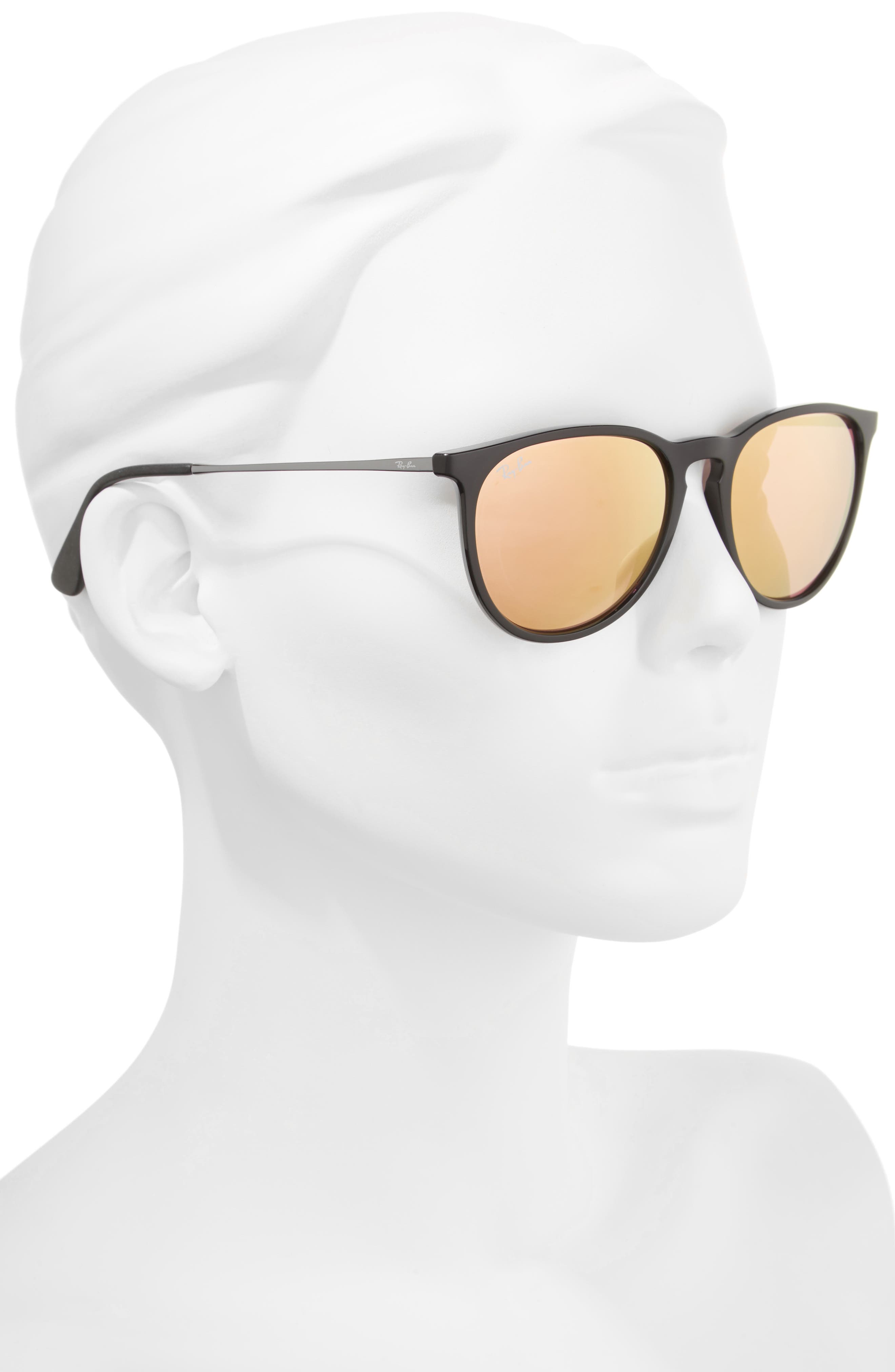 Erika 54mm Mirrored Sunglasses,                             Alternate thumbnail 4, color,