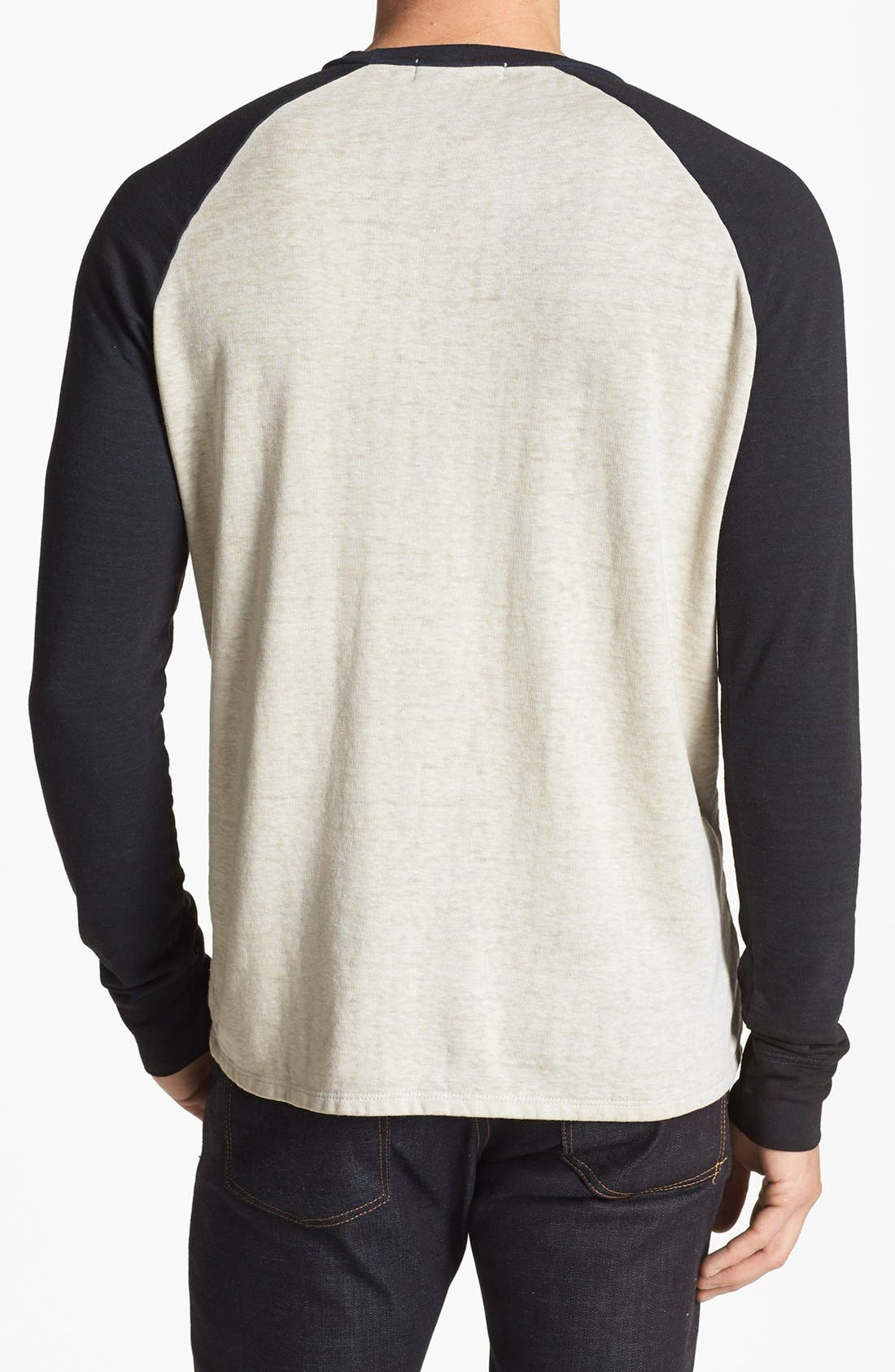Washed Raglan Sleeve Sweatshirt,                             Alternate thumbnail 23, color,