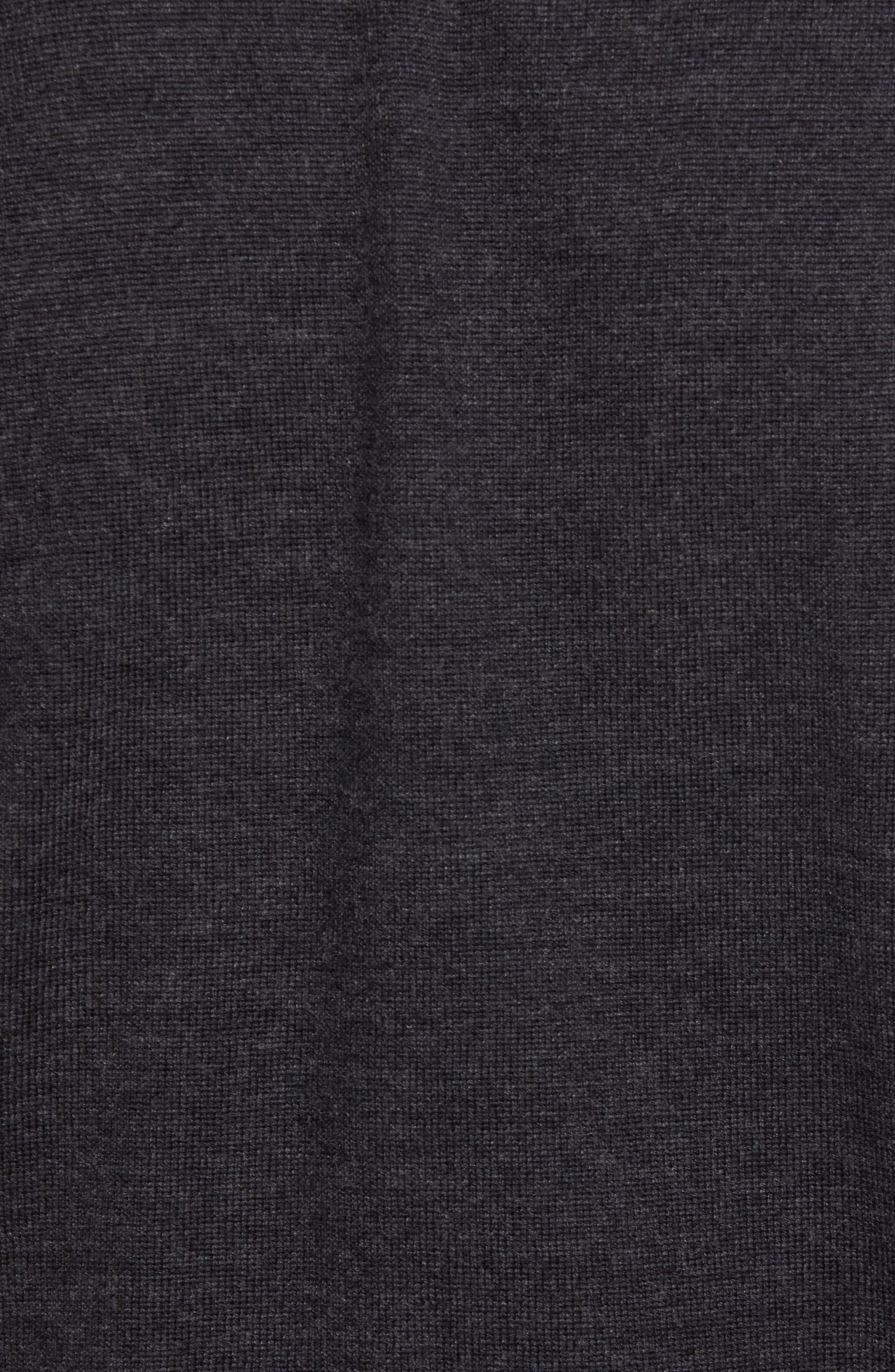Oversize Plaid Wool Vest,                             Alternate thumbnail 5, color,                             078