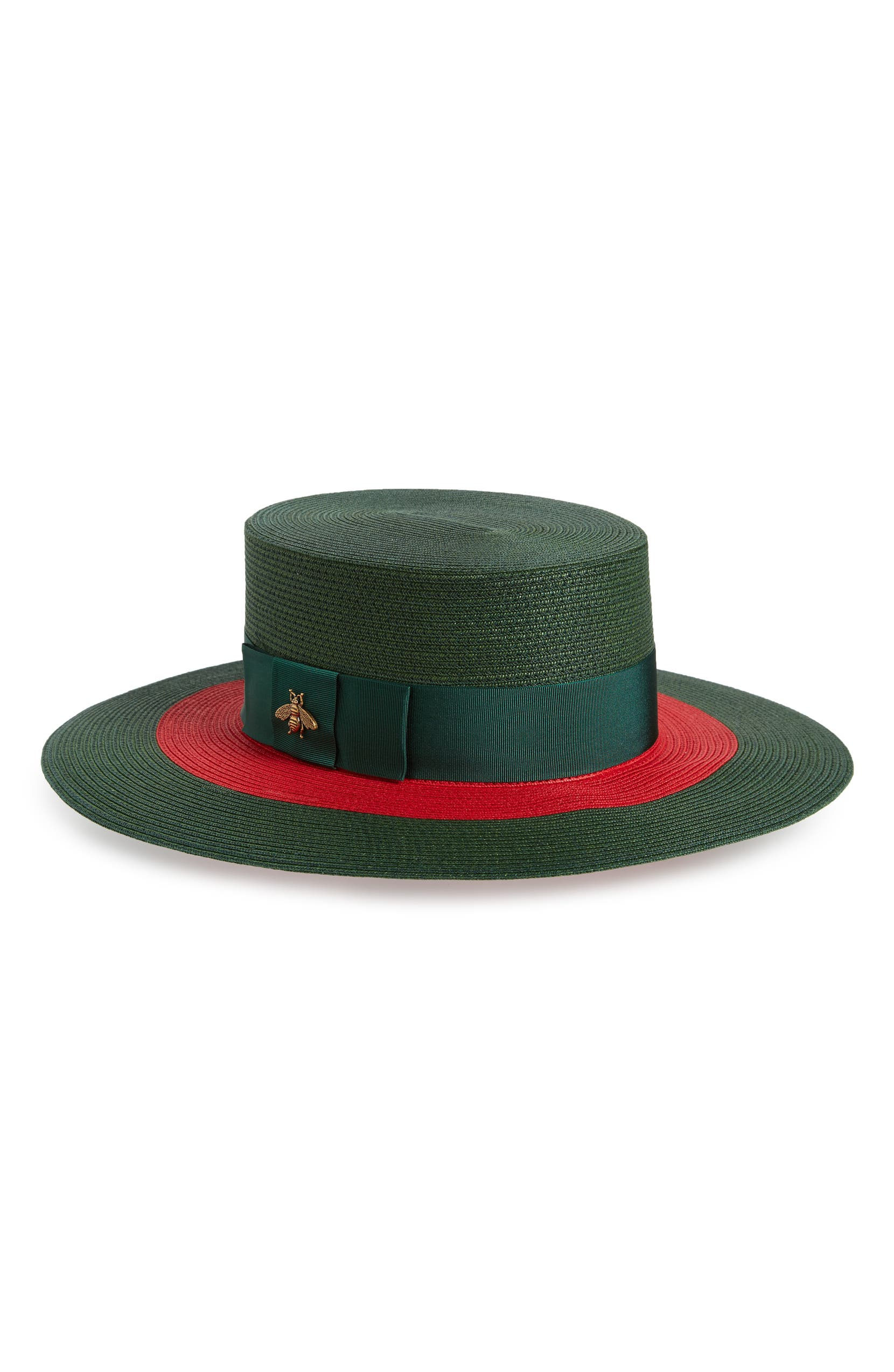 Gucci Alba Woven Straw Hat  caf1255edf7