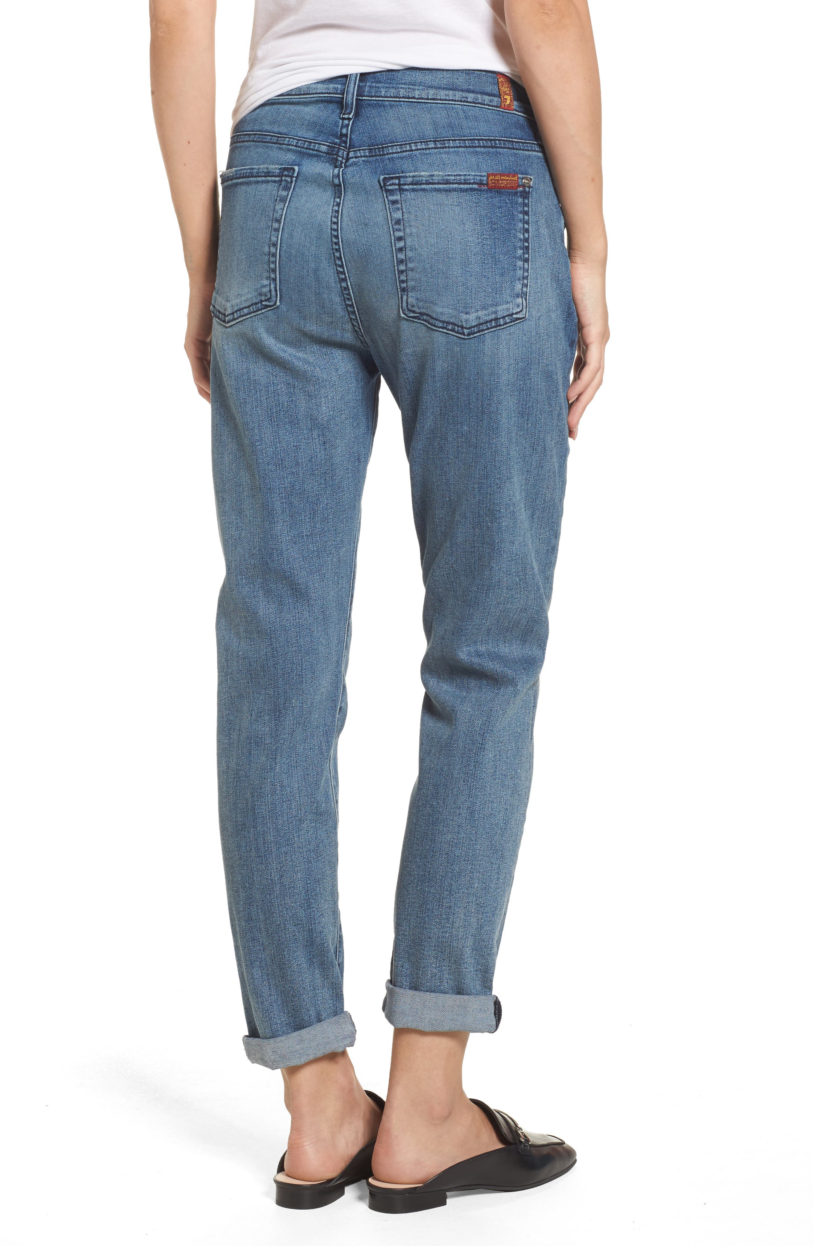 Josefina High Waist Crop Boyfriend Jeans,                             Alternate thumbnail 2, color,                             400