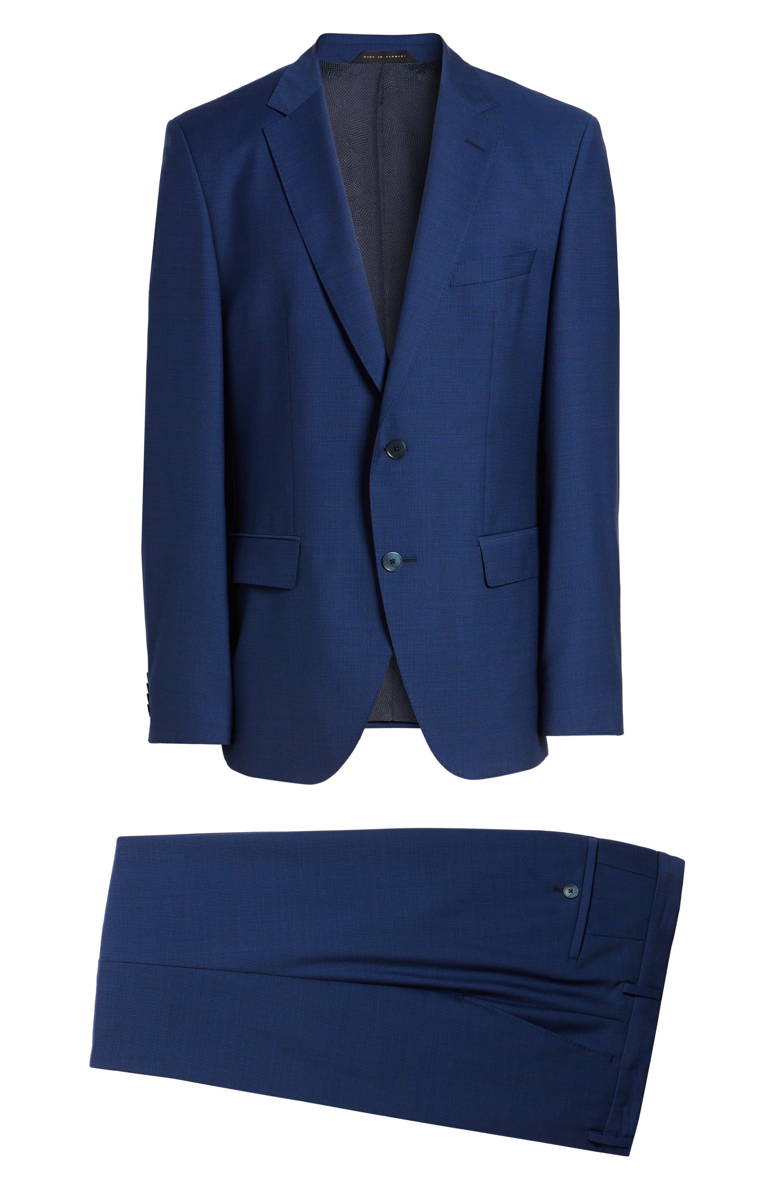 Trim Fit Solid Wool Suit,                             Alternate thumbnail 8, color,                             430
