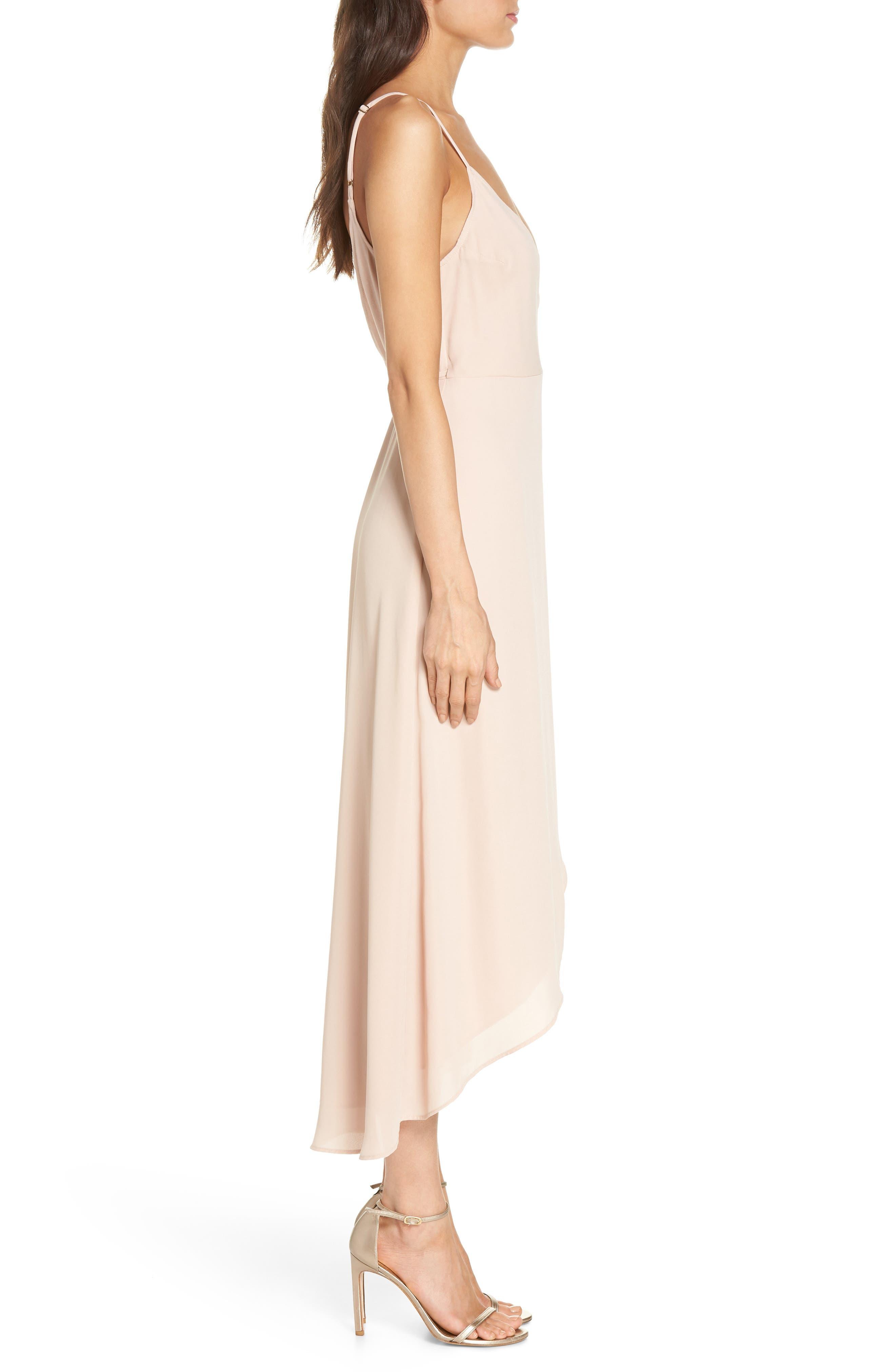 SHOW ME YOUR MUMU, Meghan Wrap Dress, Alternate thumbnail 4, color, DUSTY BLUSH