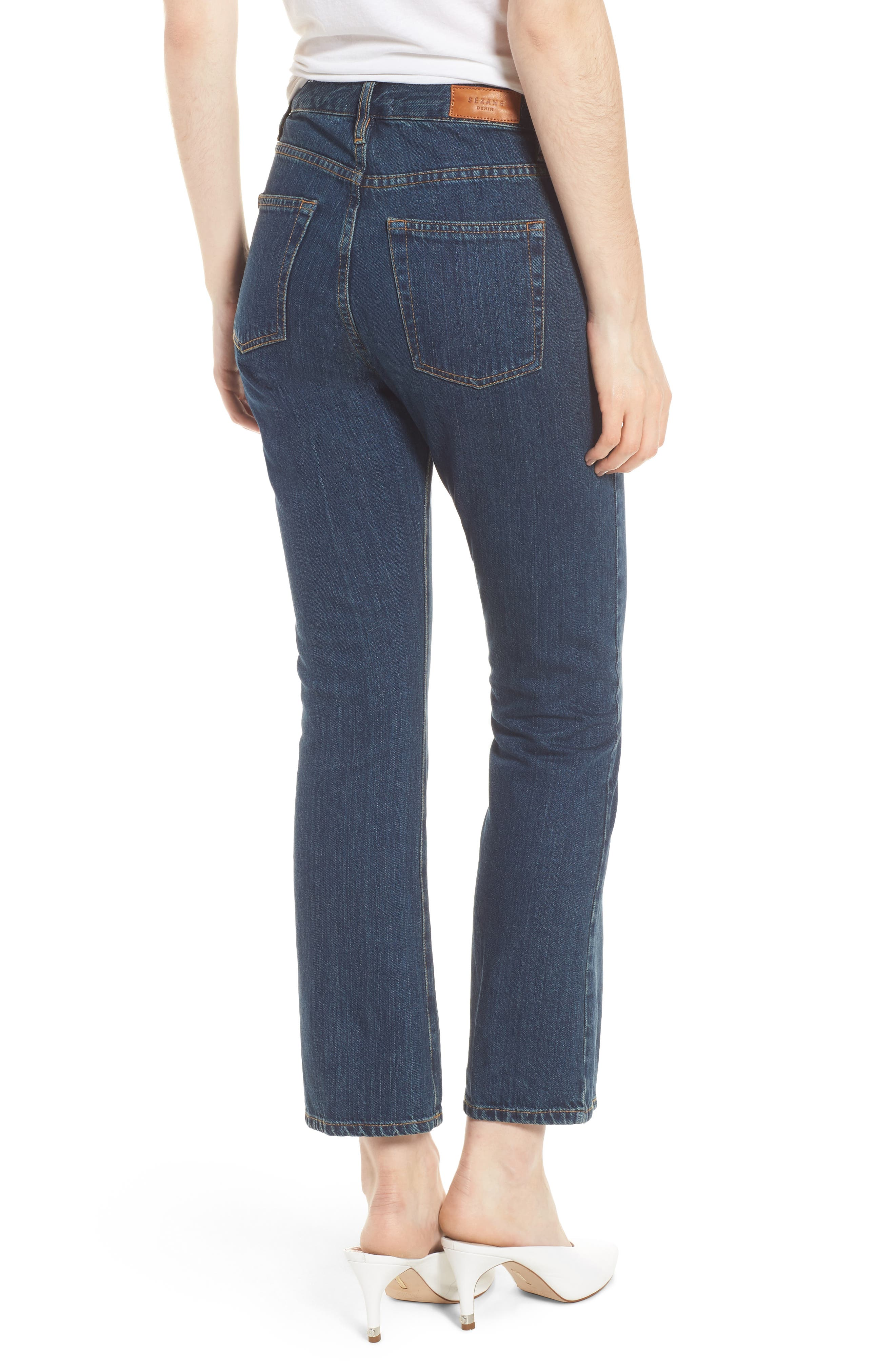 1970 The Flared Crop Jeans,                             Alternate thumbnail 7, color,
