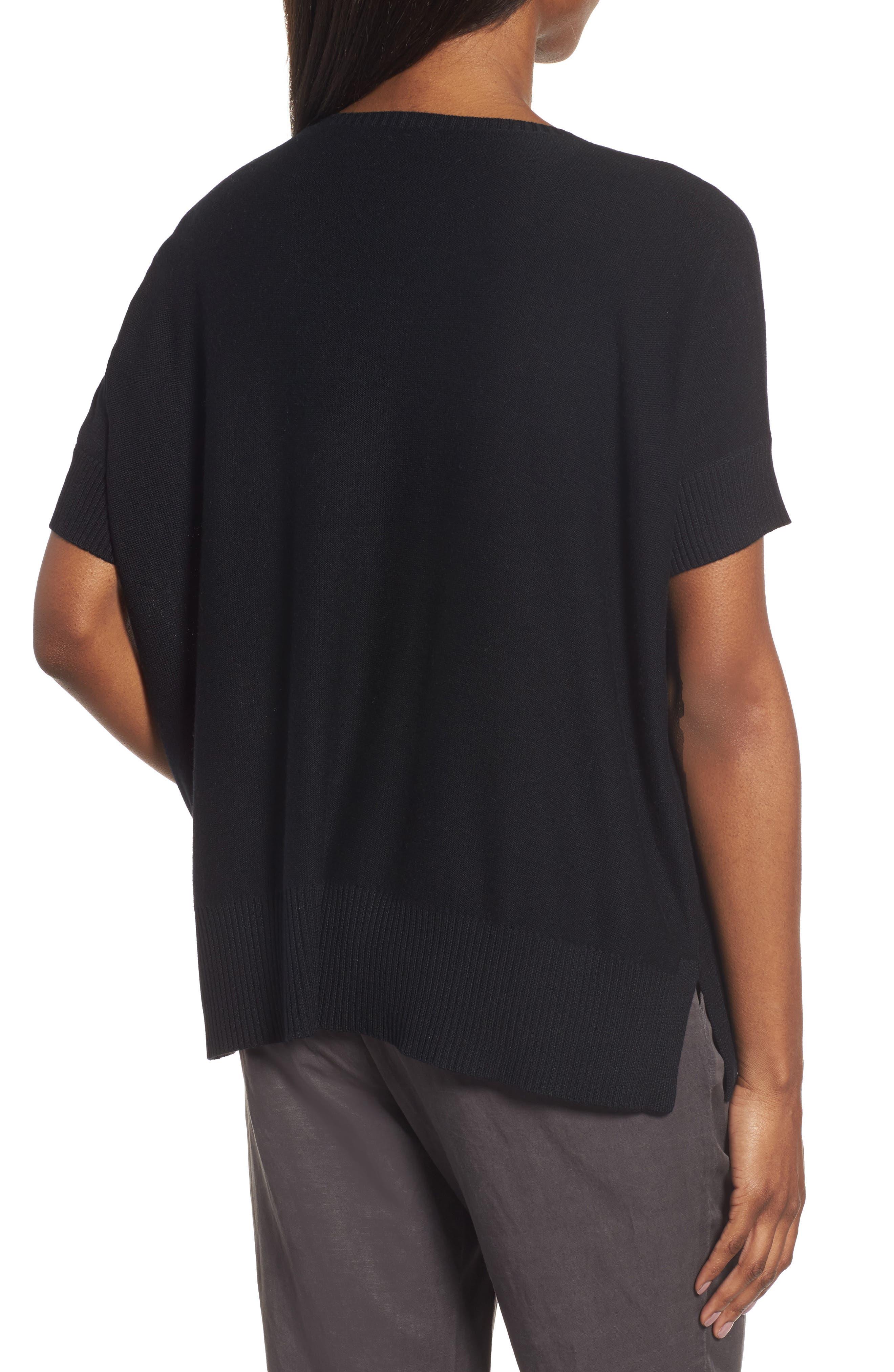 Tencel<sup>®</sup> & Merino Wool Top,                             Alternate thumbnail 2, color,                             001