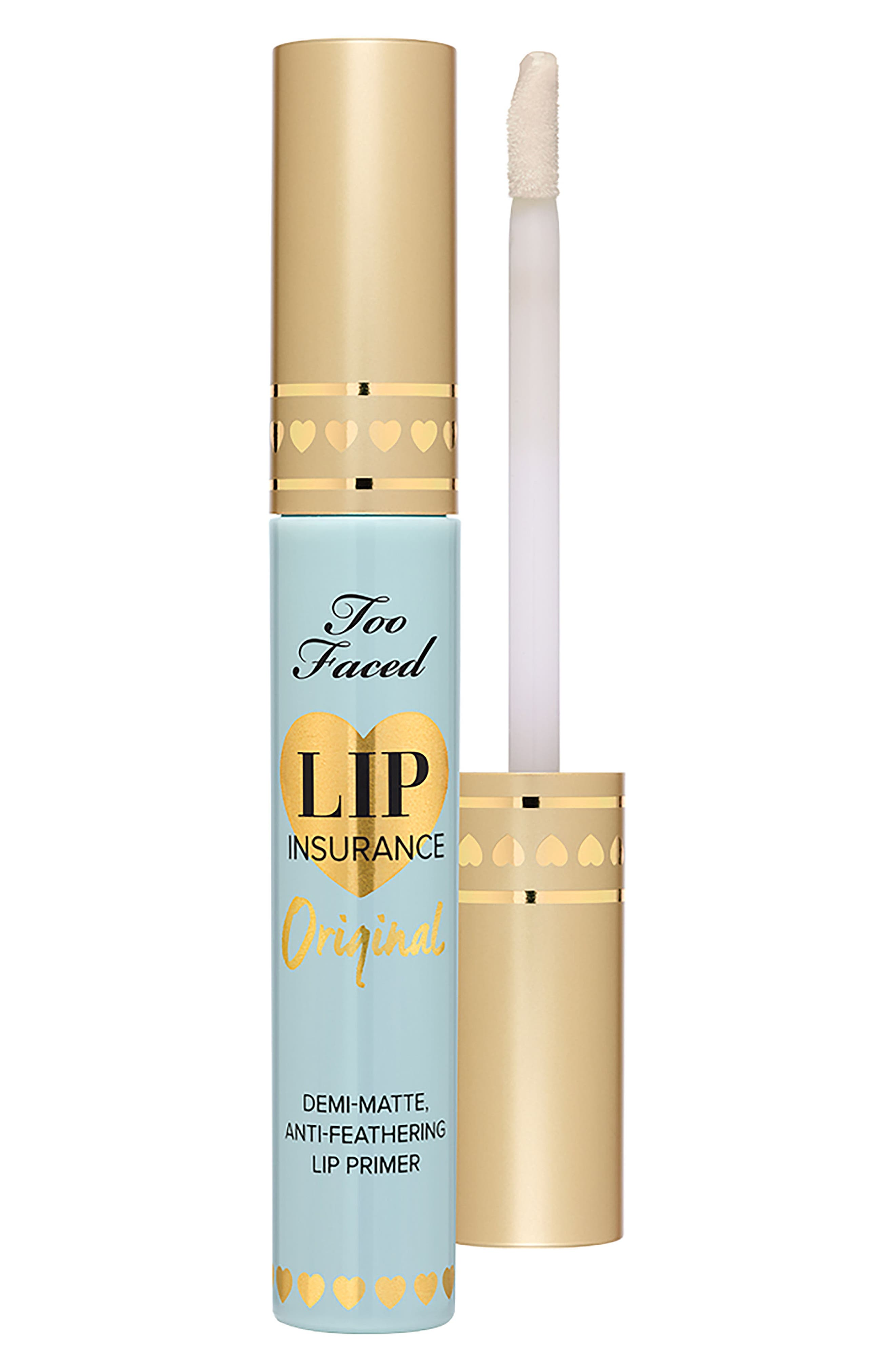 TOO FACED,                             Lip Insurance Original Lip Primer,                             Alternate thumbnail 5, color,                             NO COLOR