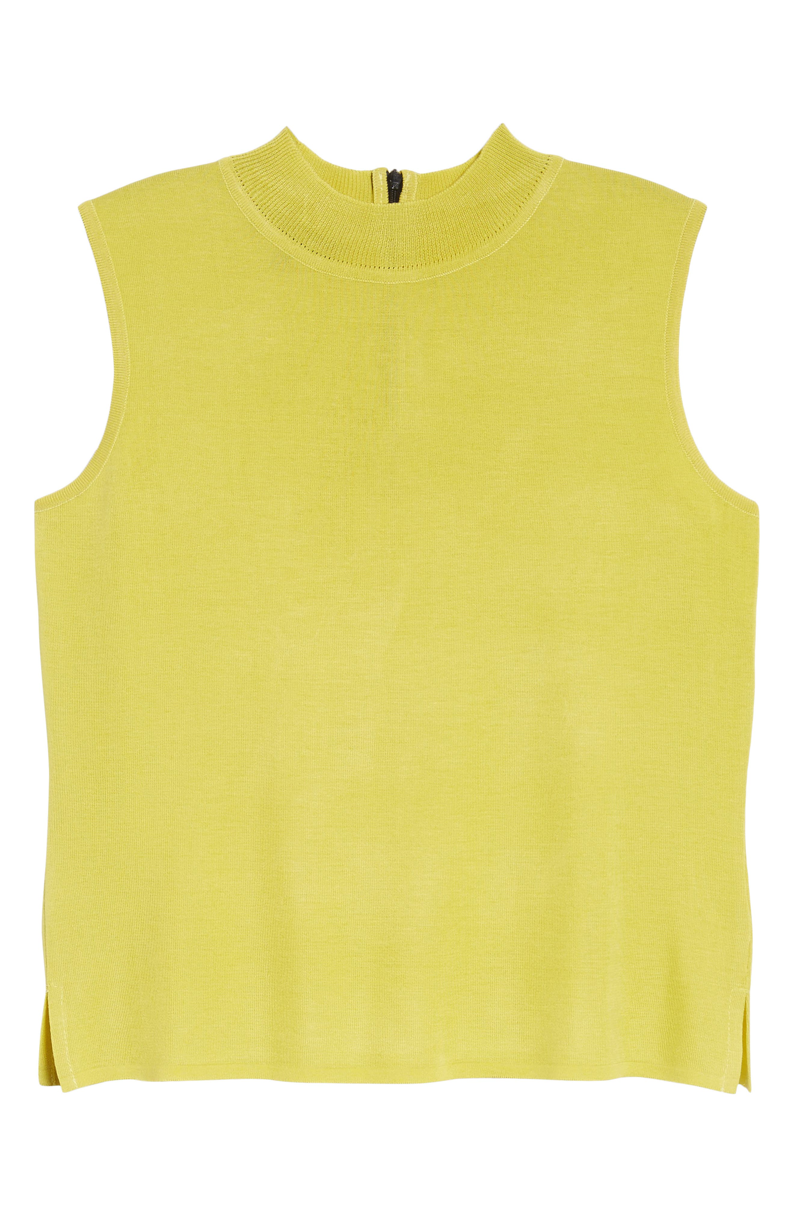 Mock Neck Knit Tank,                             Alternate thumbnail 6, color,                             720