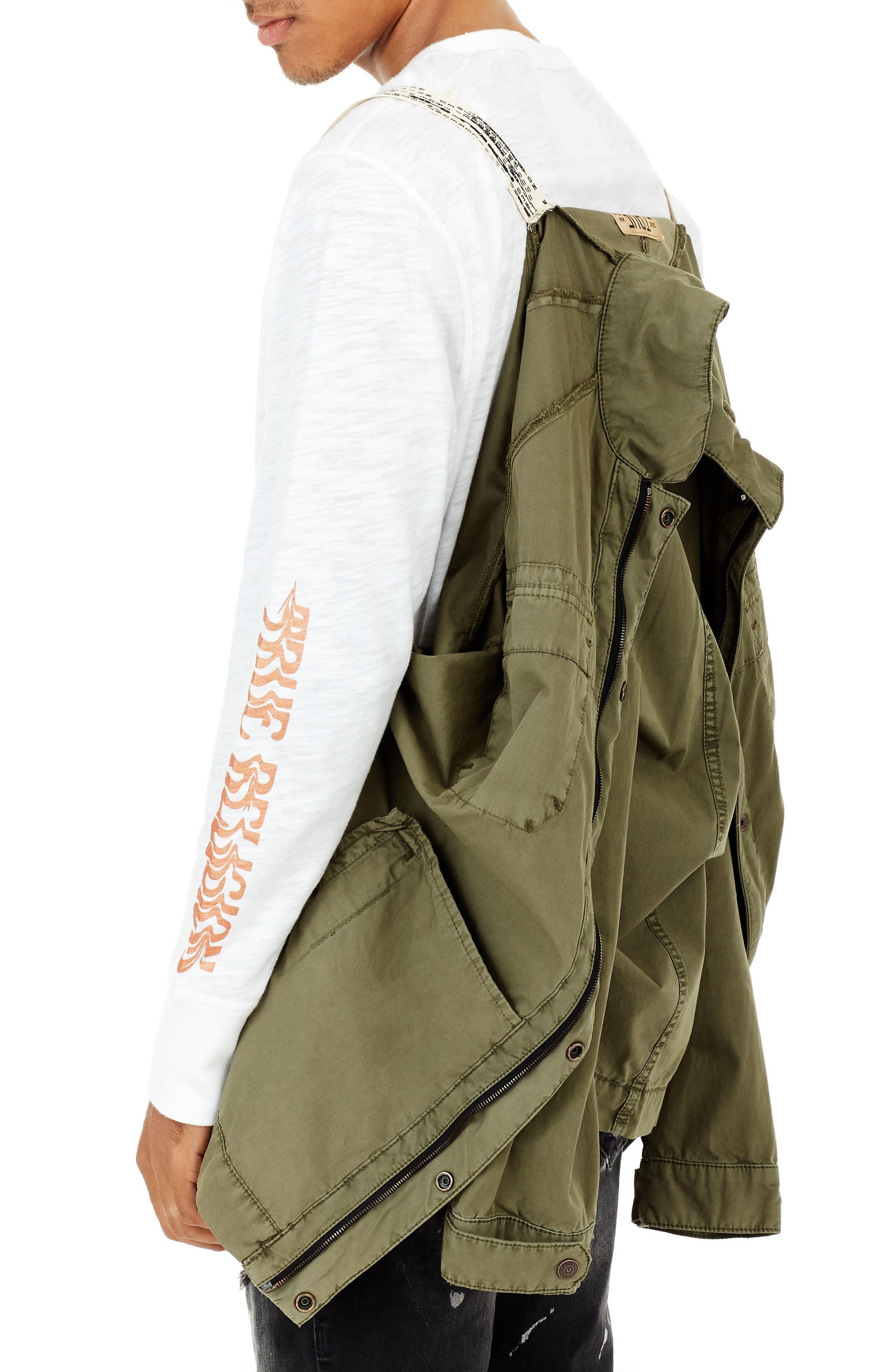 True Religion Digital Harness Strap Field Jacket,                             Alternate thumbnail 3, color,