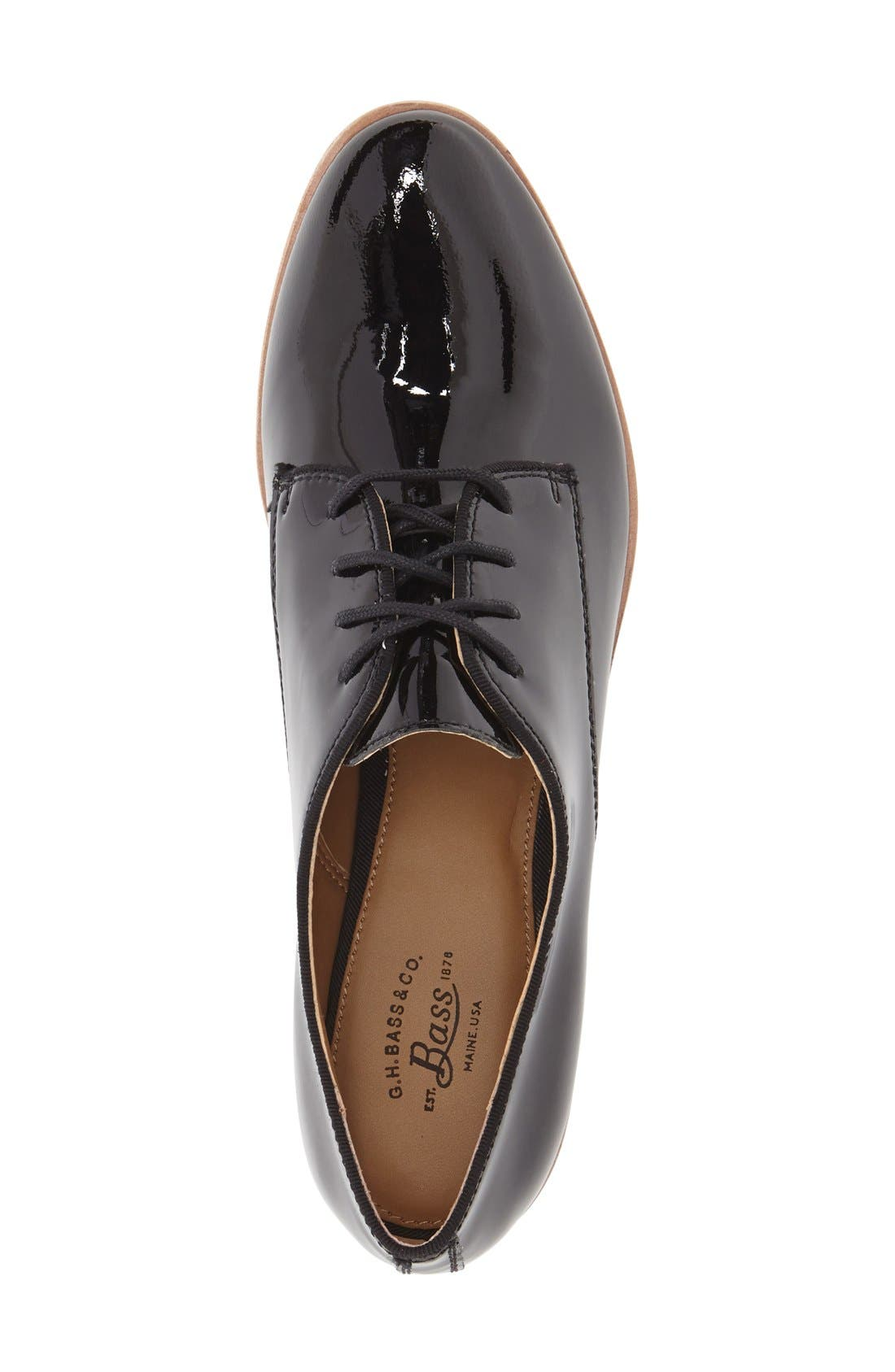 G.H. BASS & CO.,                             'Ella' Leather Oxford,                             Alternate thumbnail 3, color,                             001