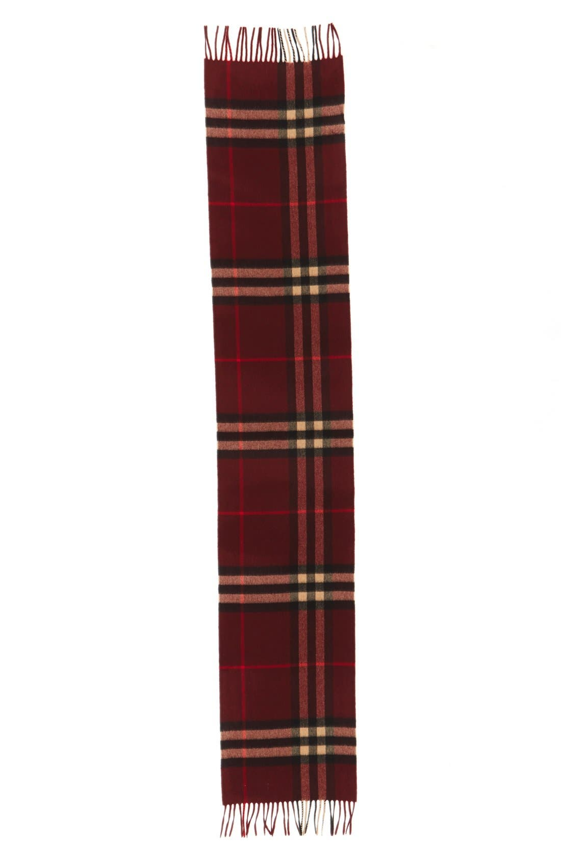 Heritage Check Cashmere Scarf,                             Alternate thumbnail 33, color,