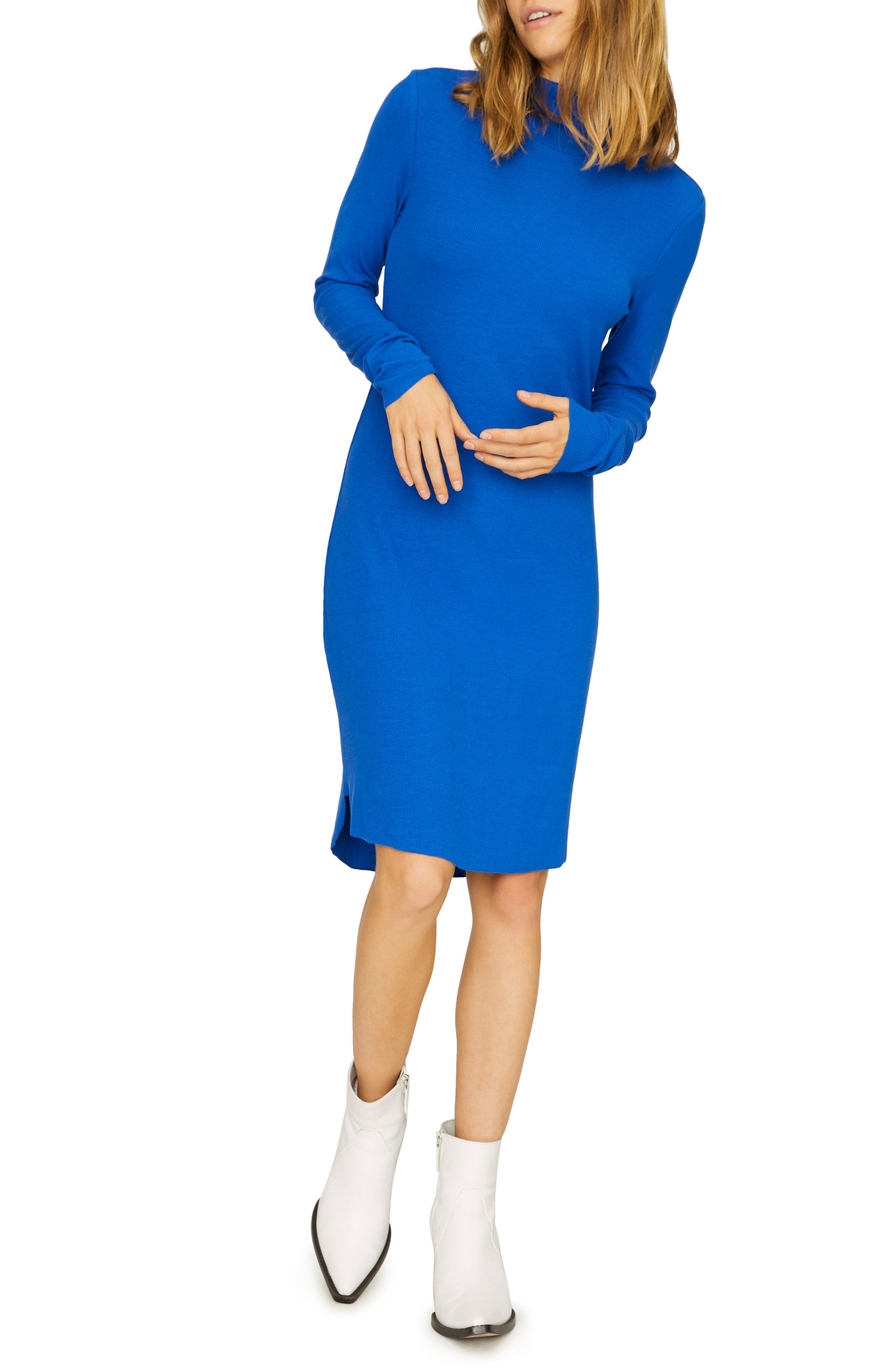 Sanctuary Essentials Rib Shift Dress, Blue