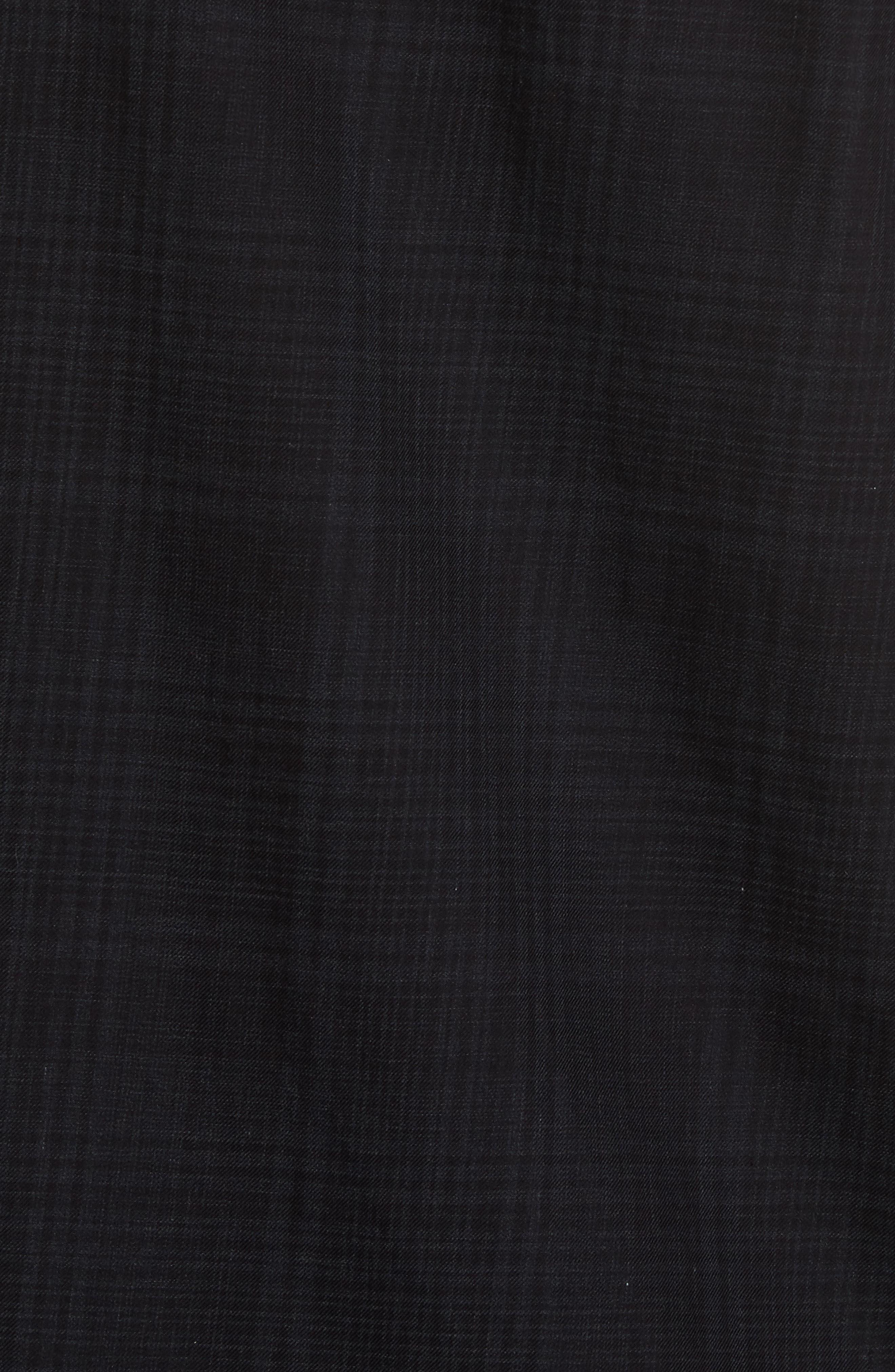 Trim Fit Plaid Sport Shirt,                             Alternate thumbnail 5, color,                             094