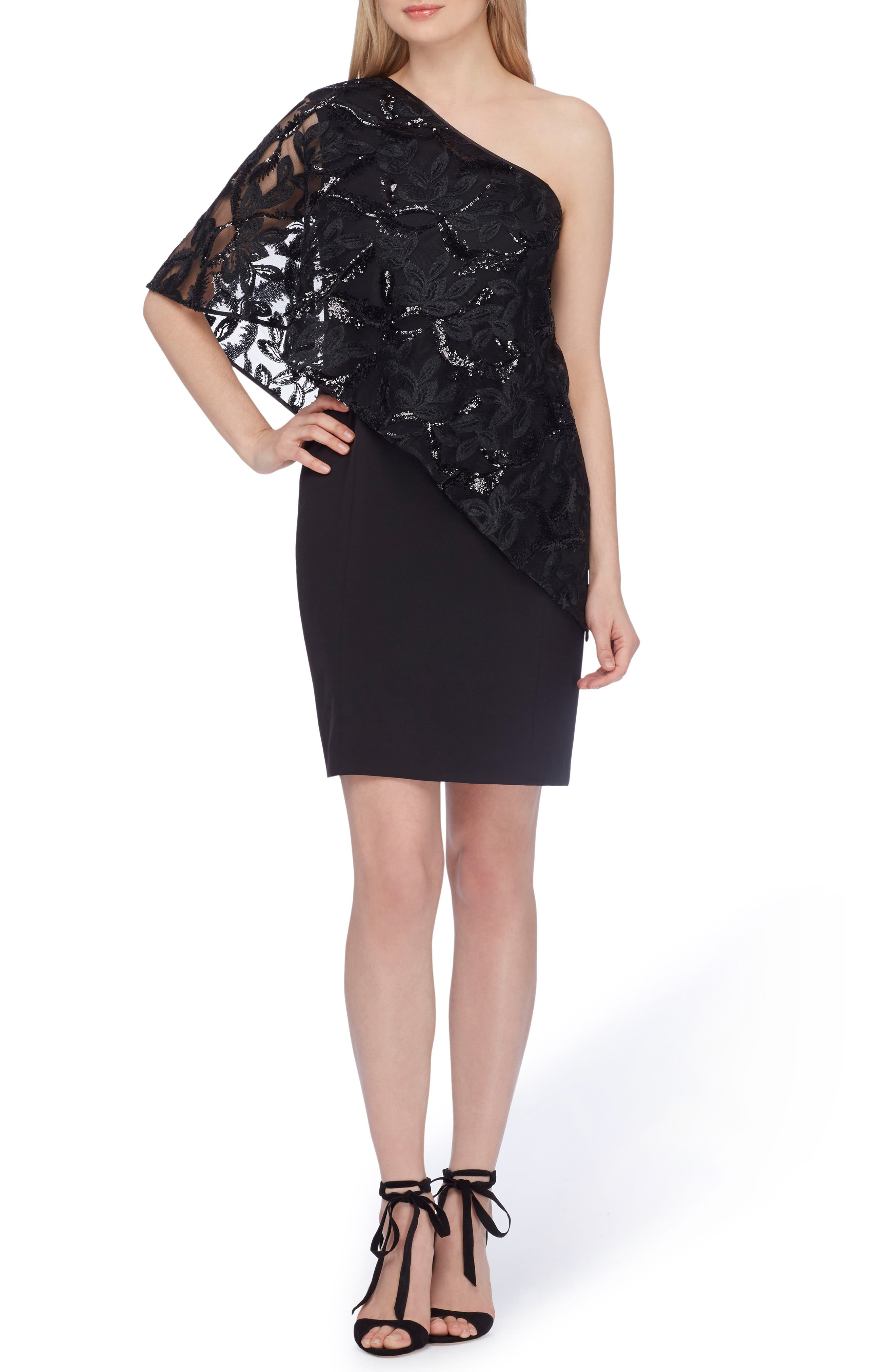 One-Shoulder Sequin Dress,                             Main thumbnail 1, color,