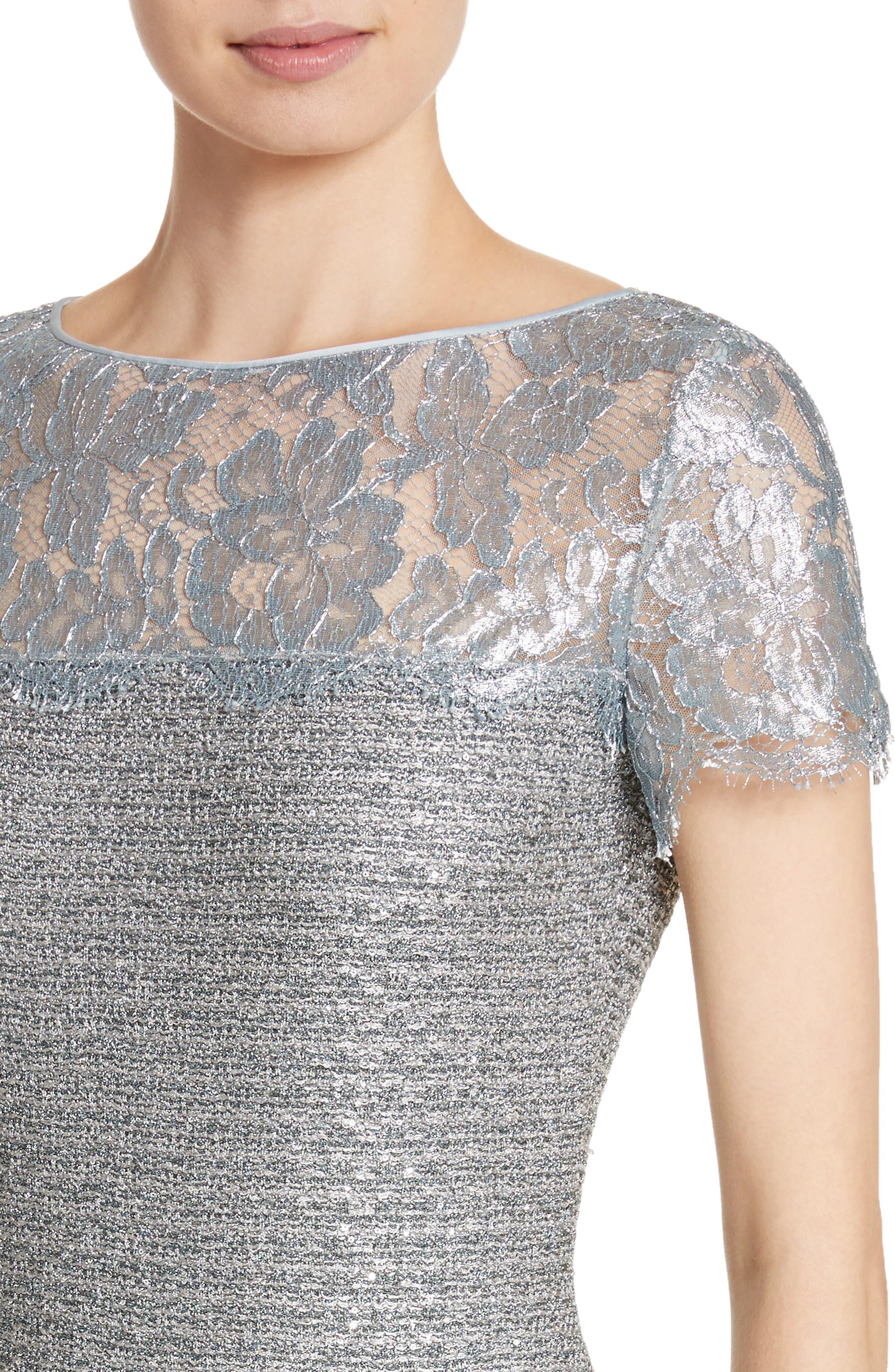 Metallic Knit Gown,                             Alternate thumbnail 4, color,                             020