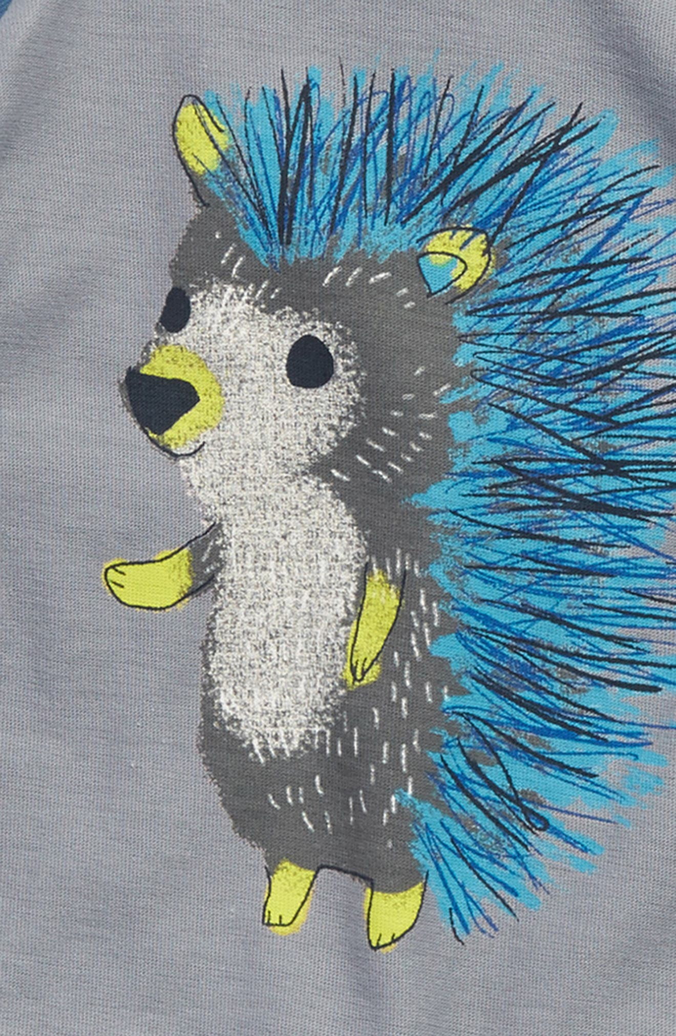 Hedgehog Graphic Romper,                             Alternate thumbnail 2, color,