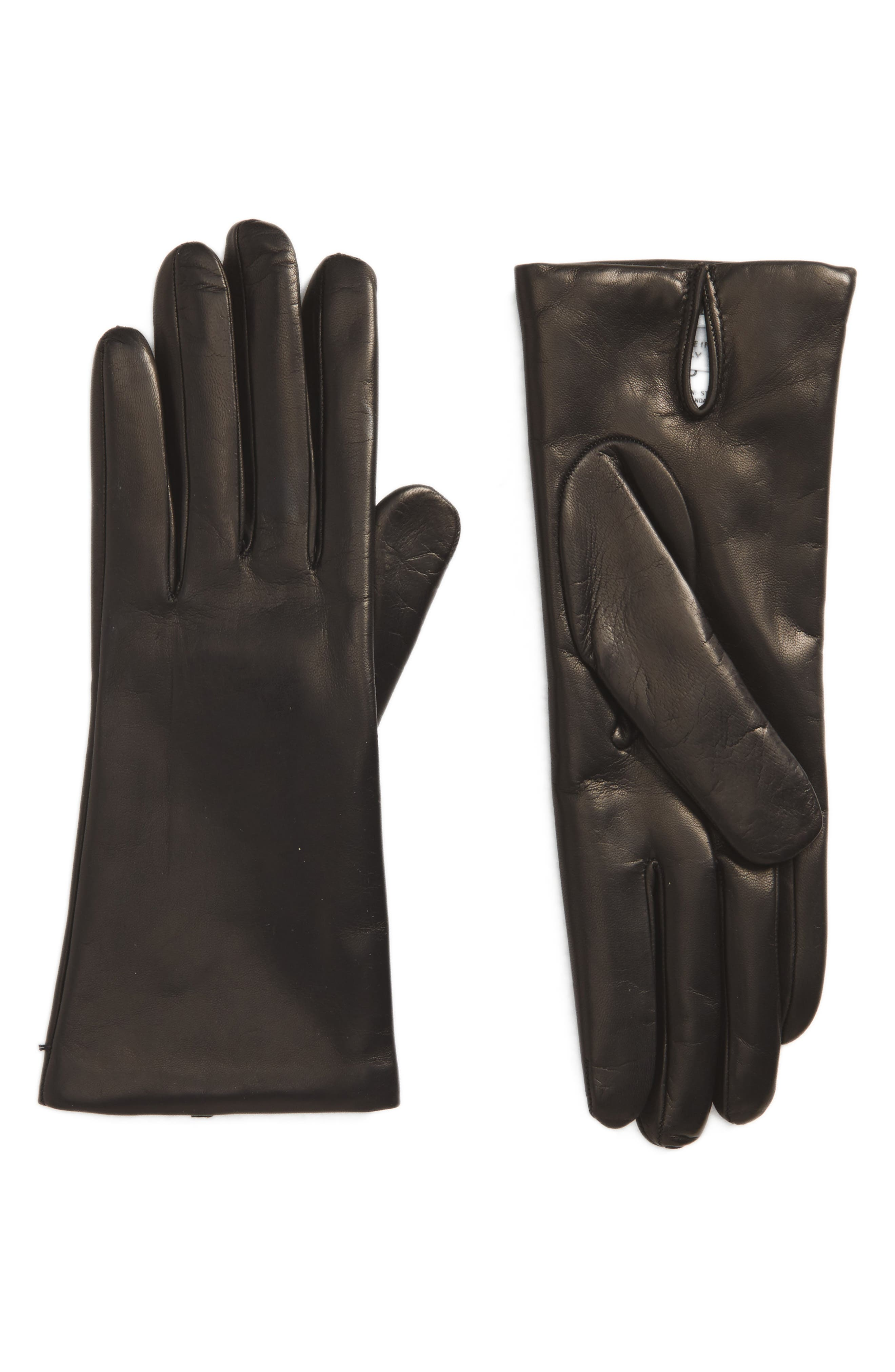 Ragusa Leather Gloves,                         Main,                         color, 001