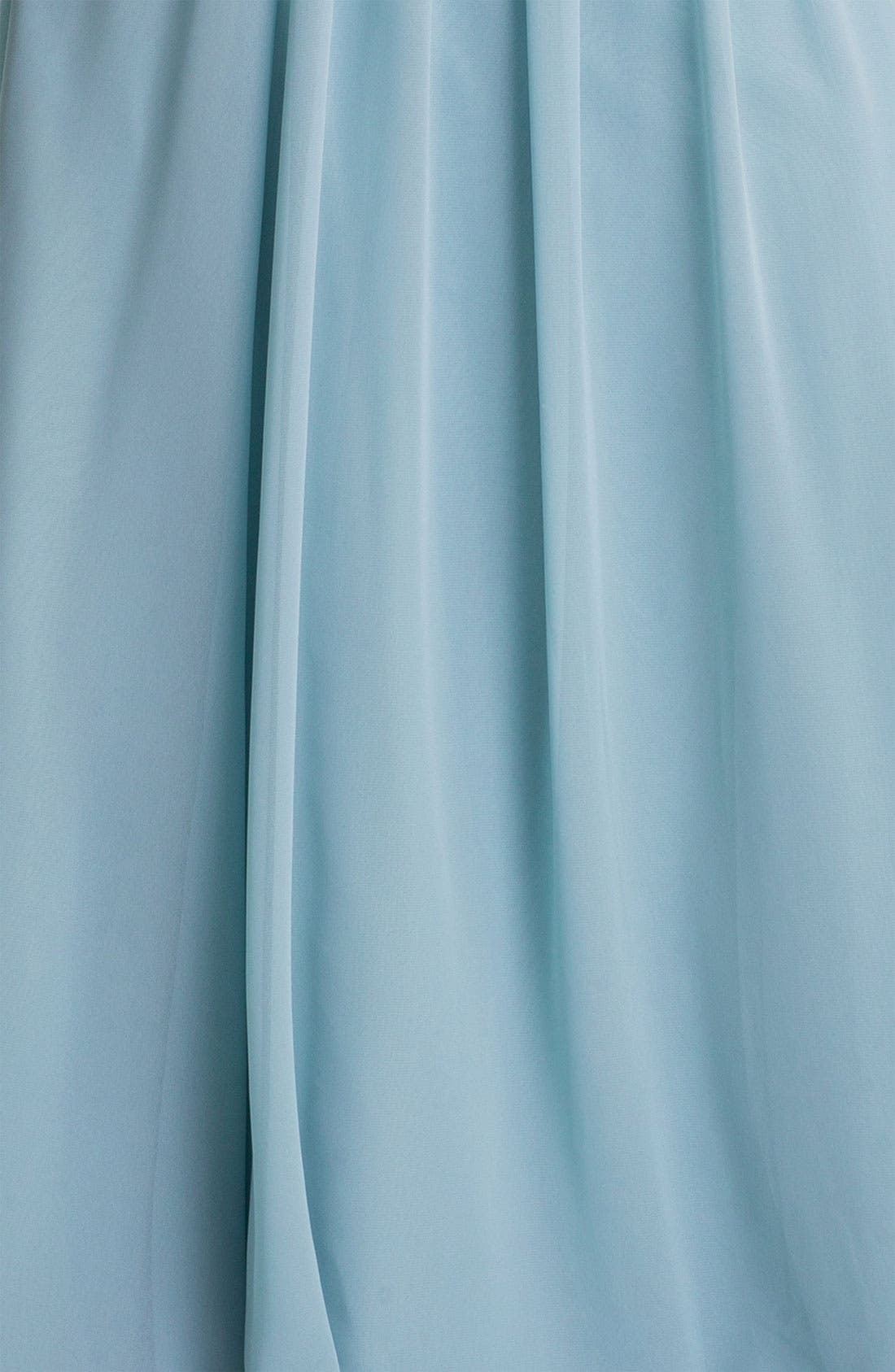 Vivienne Pleated Chiffon Gown,                             Alternate thumbnail 34, color,