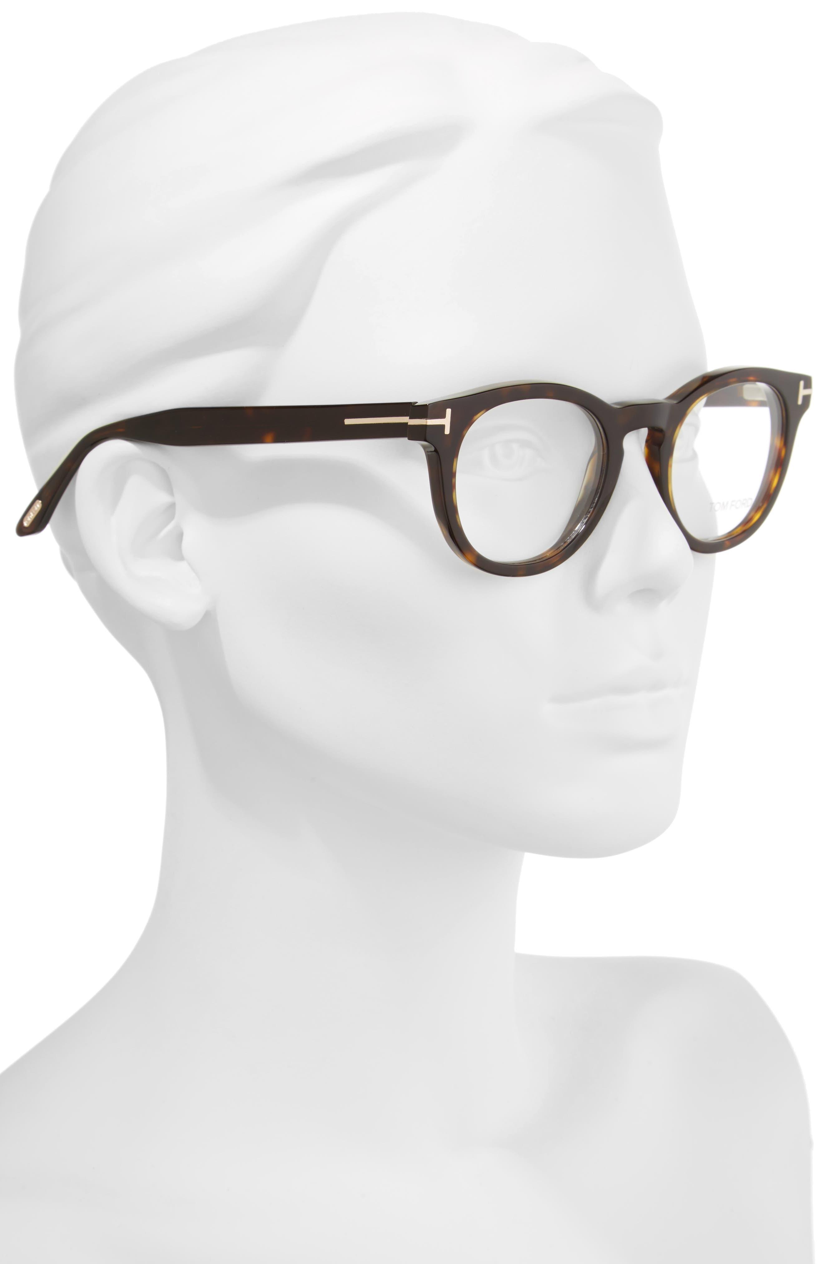48mm Round Optical Glasses,                             Alternate thumbnail 5, color,